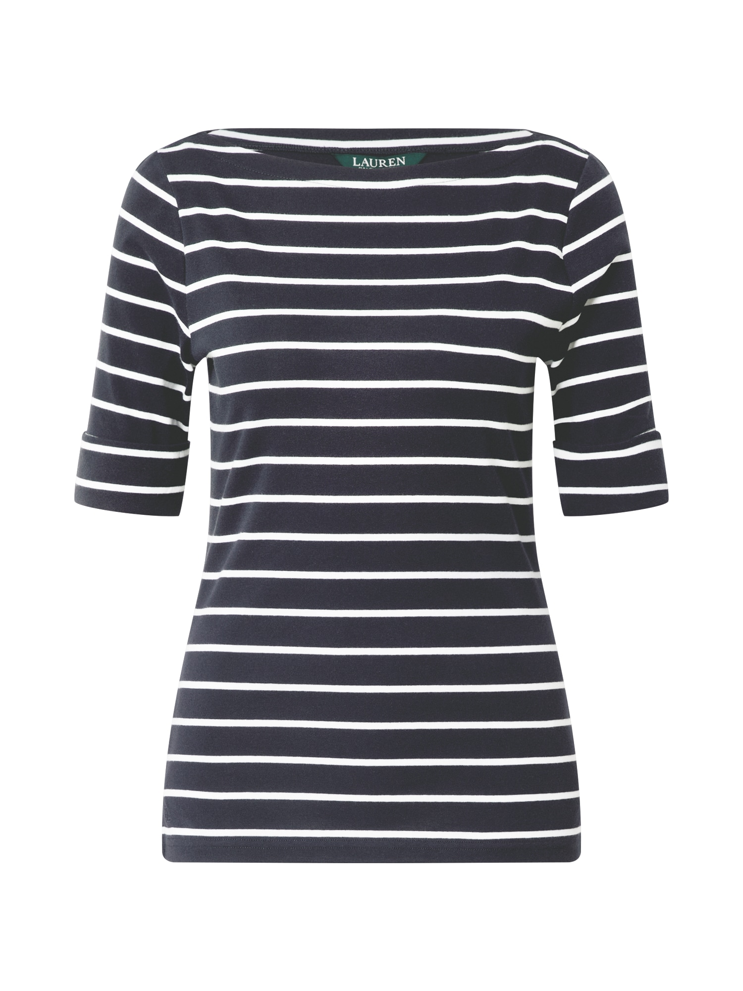 Lauren Ralph Lauren Marškinėliai tamsiai mėlyna / balta