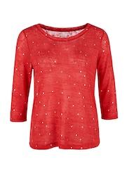 Q/S Designed By Damen Shirt mit Metallic-Muster rot | 04056523625097