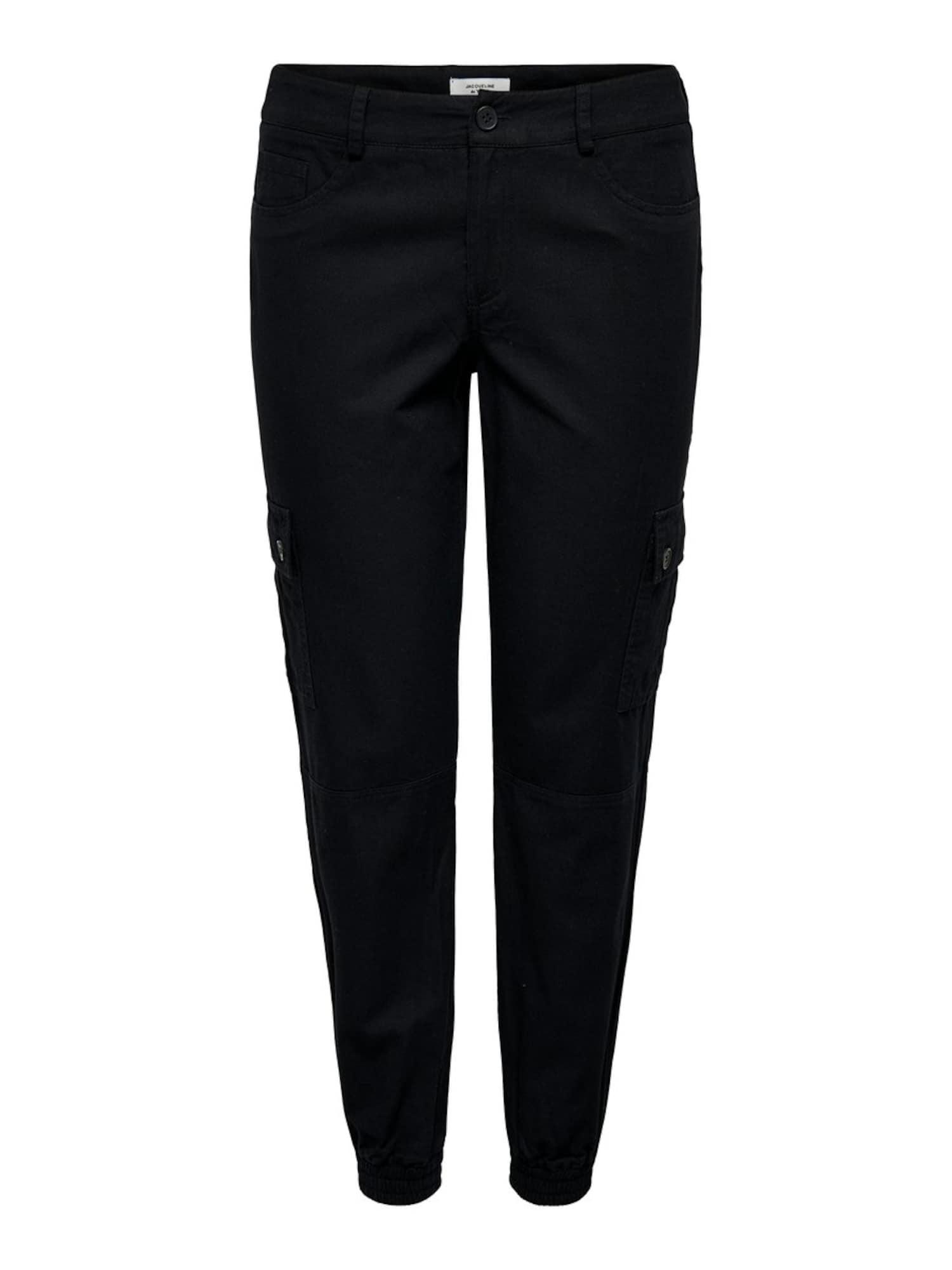 JACQUELINE de YONG Laisvo stiliaus kelnės juoda