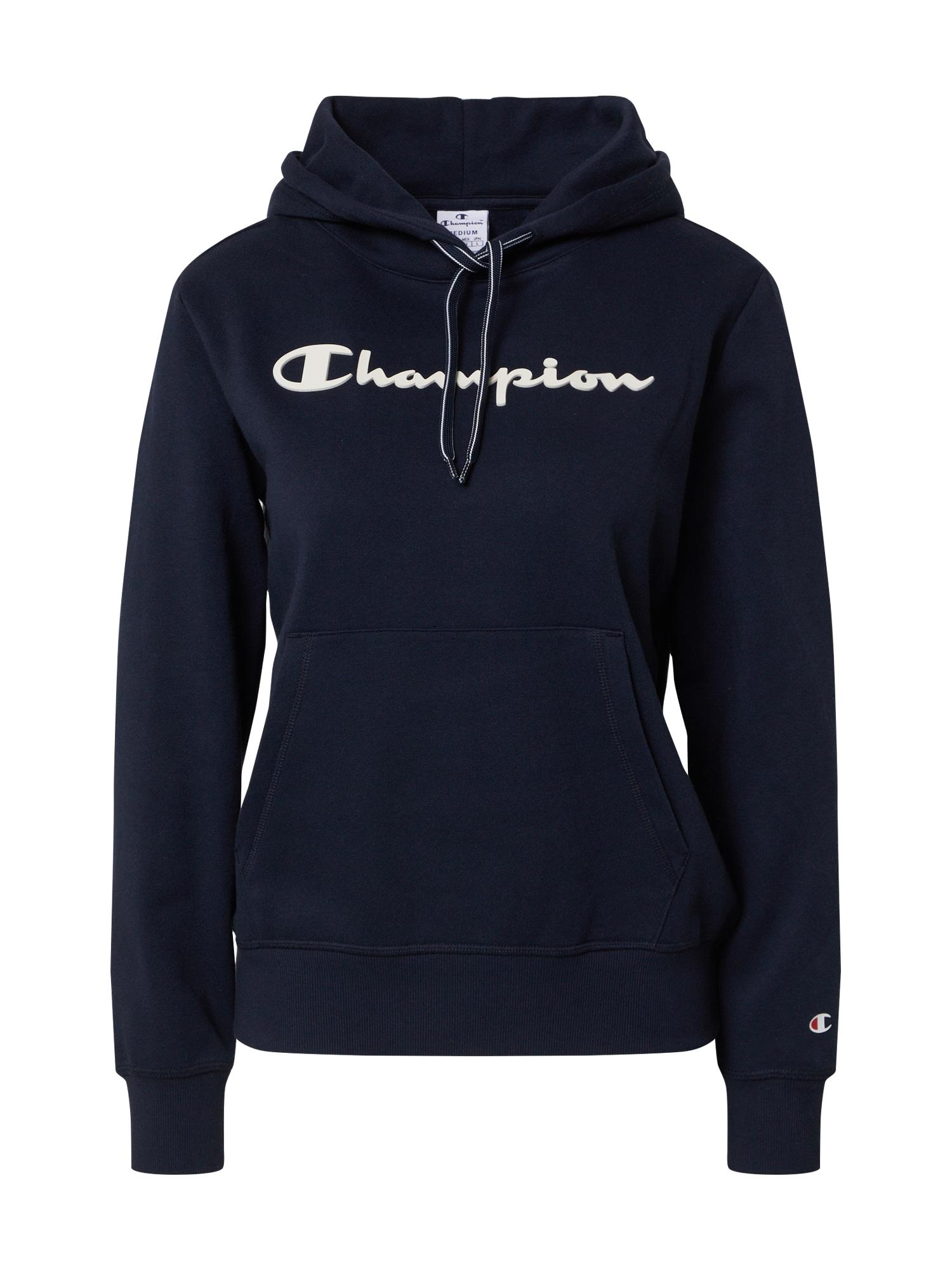 Champion Reverse Weave Megztinis be užsegimo tamsiai mėlyna / balta