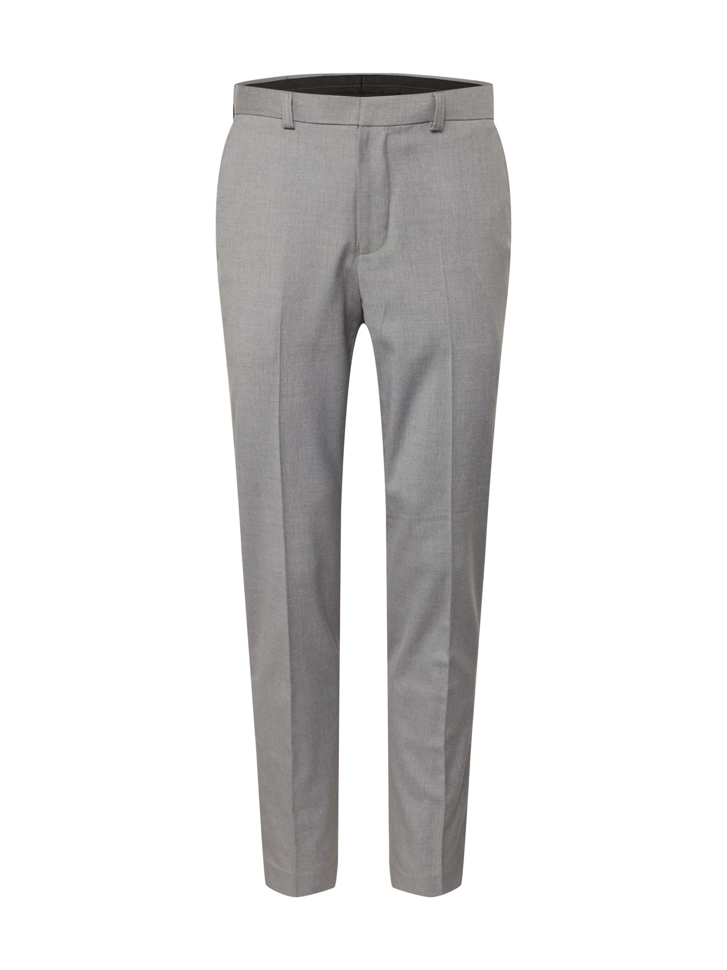 BURTON MENSWEAR LONDON Kelnės su kantu pilka