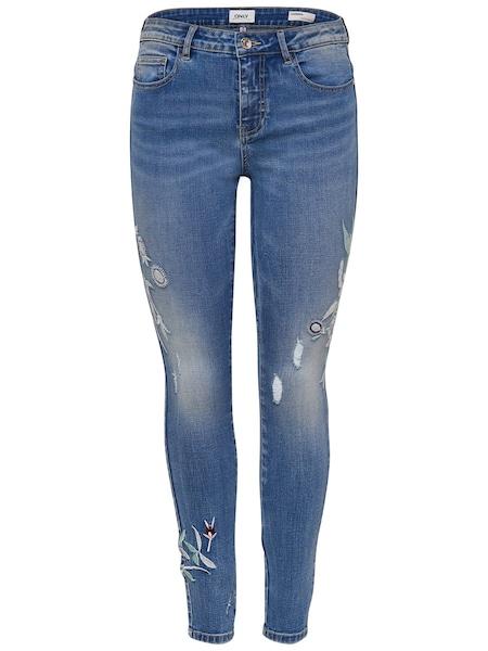 Hosen - Carmen Skinny Fit Jeans › Only › blue denim  - Onlineshop ABOUT YOU