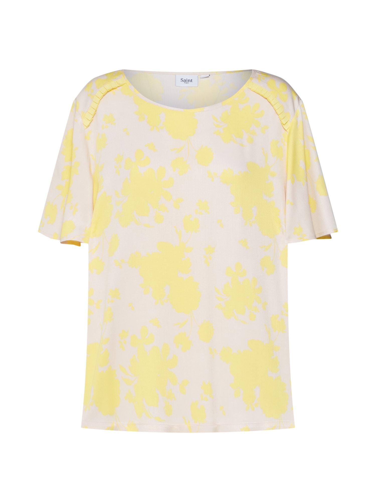 Tričko Candy Flower béžová žlutá SAINT TROPEZ