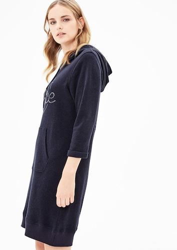 - S.Oliver RED LABEL Damen Sweat-Kleid mit Pailletten, Gr. 36, blau, 04059111604344