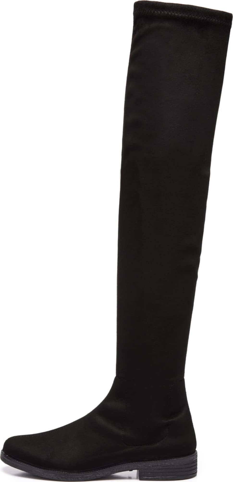 bianco stiefel l ssige overknee in schwarz about you. Black Bedroom Furniture Sets. Home Design Ideas