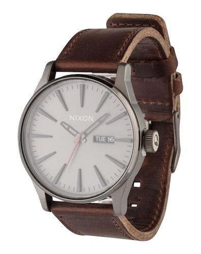 Nine & Company Damen Schwarz Lederband Silberfarben Wr Batterie Armbanduhren Armband- & Taschenuhren