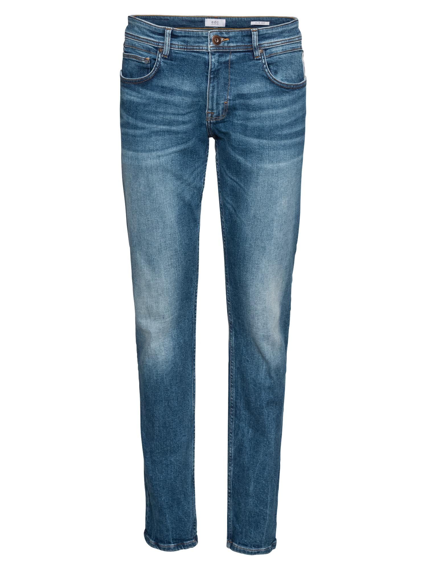 EDC BY ESPRIT Džinsai 'OCS 5 Pkt SLIM Pants denim' tamsiai (džinso) mėlyna