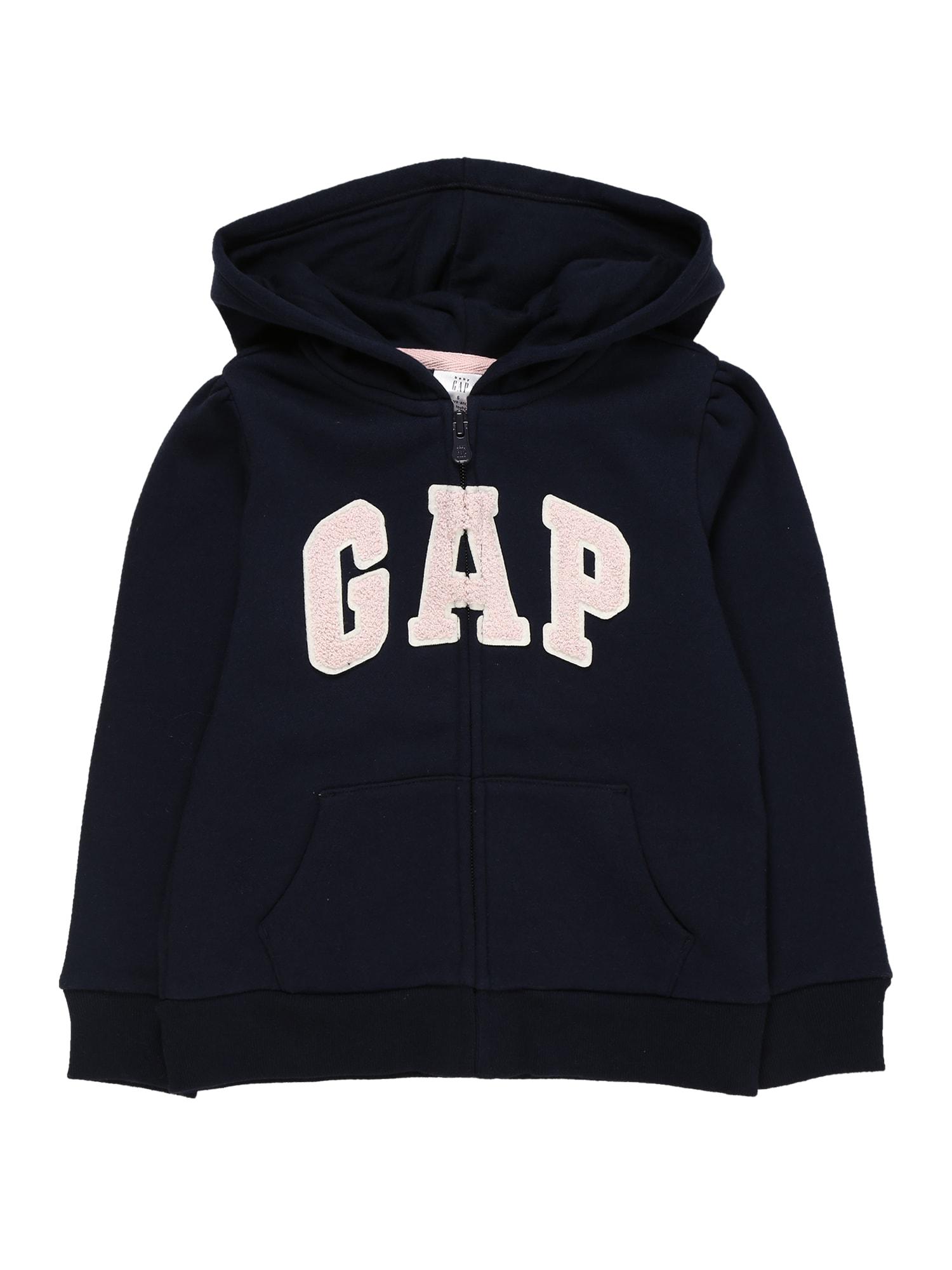 GAP Džemperis tamsiai mėlyna / šviesiai rožinė
