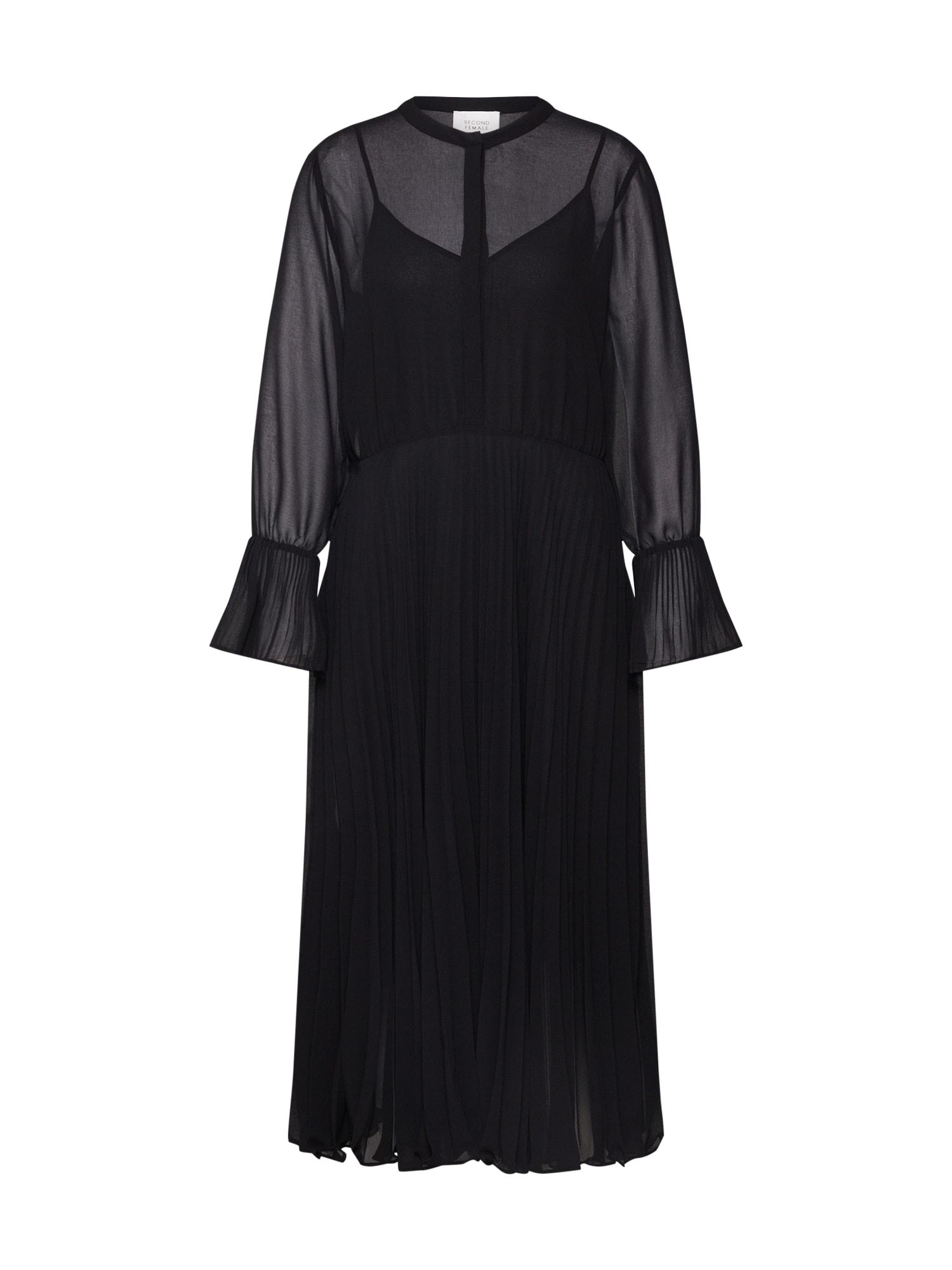 SECOND FEMALE Palaidinės tipo suknelė juoda