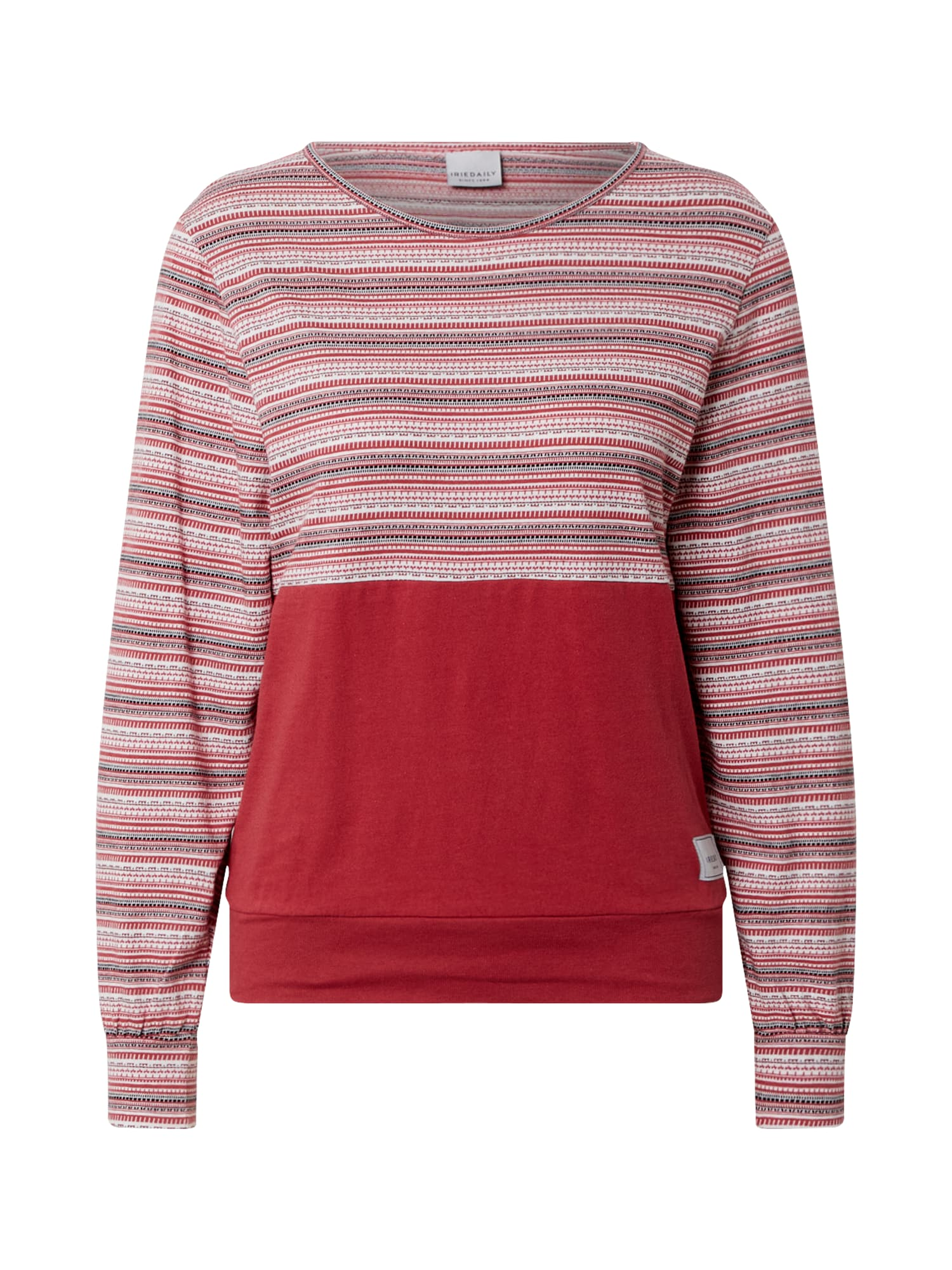 Iriedaily Marškinėliai balta / pilka / rūdžių raudona