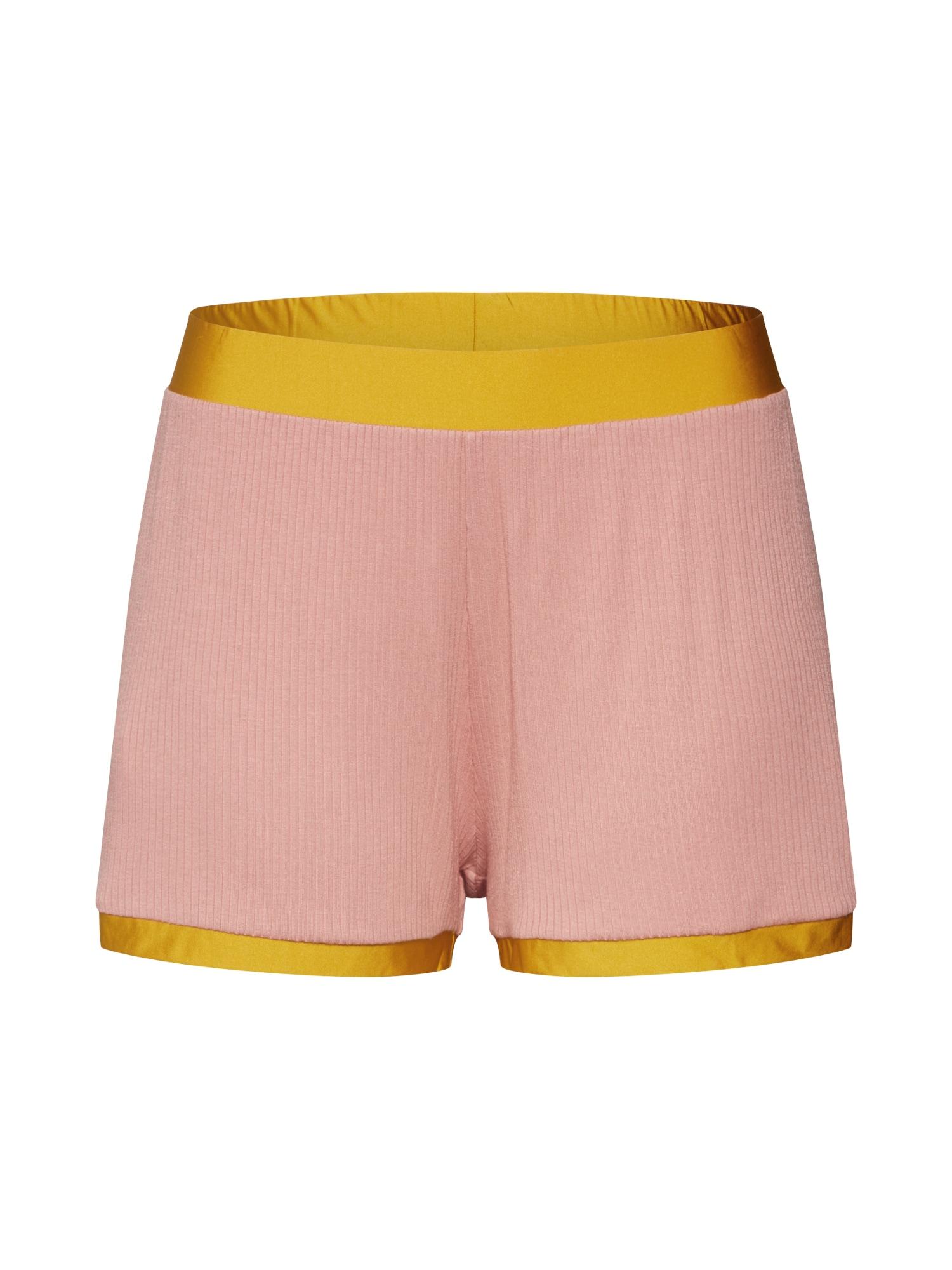 SLOGGI Pyžamové nohavice  oranžová