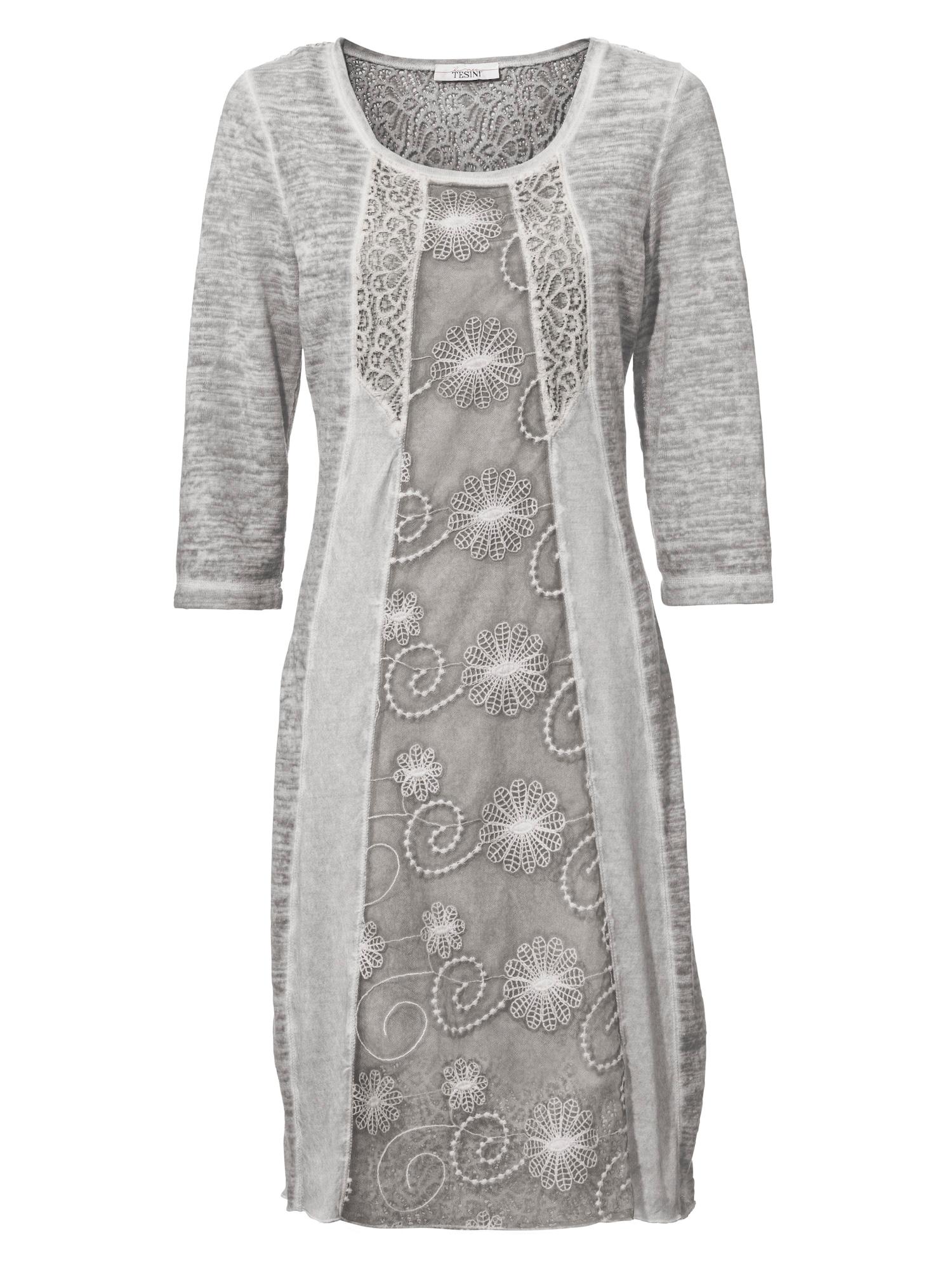 heine Šaty  stříbrně šedá