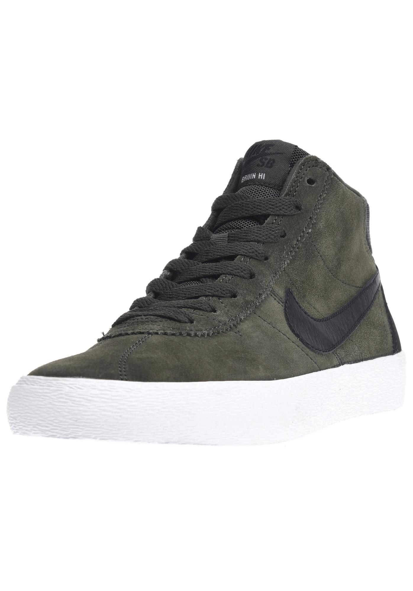 Nike SB, Damen Sneakers hoog Bruin Hi, spar / zwart