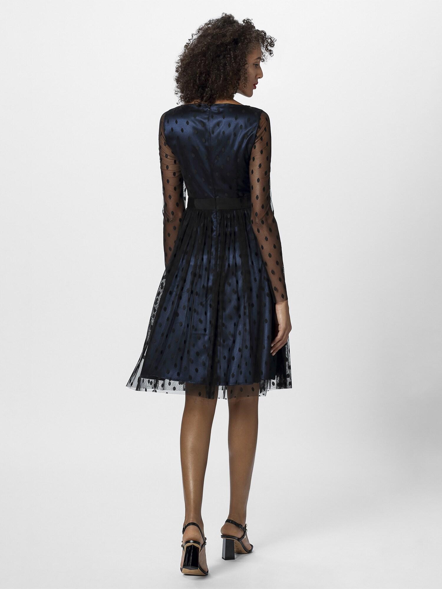 APART Vakarinė suknelė juoda / nakties mėlyna