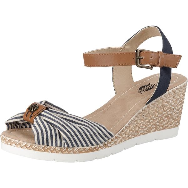 Sandalen für Frauen - UNLIMITED Sandaletten navy braun weiß  - Onlineshop ABOUT YOU