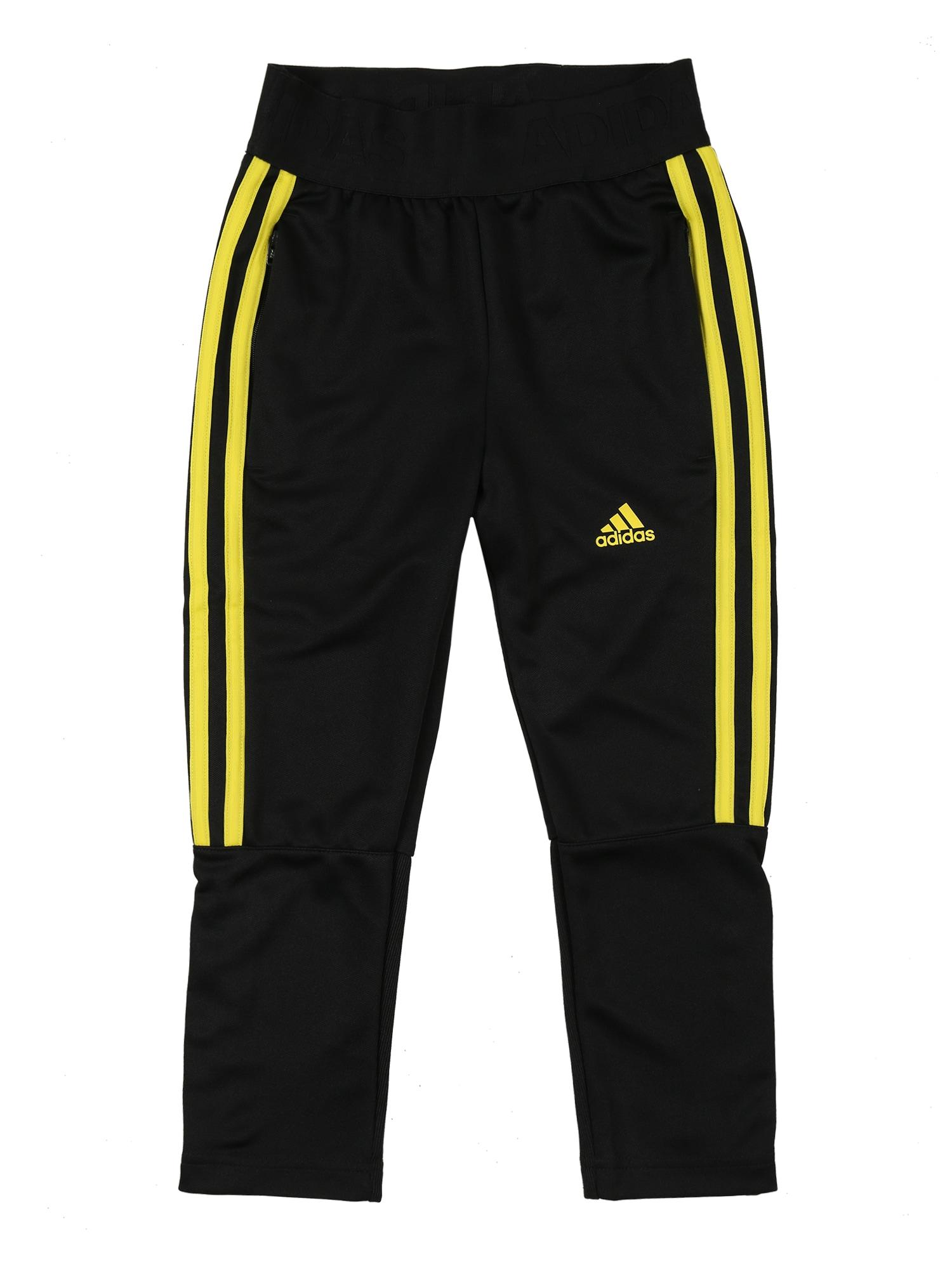 ADIDAS PERFORMANCE Športové nohavice 'TIRO'  čierna / žlté