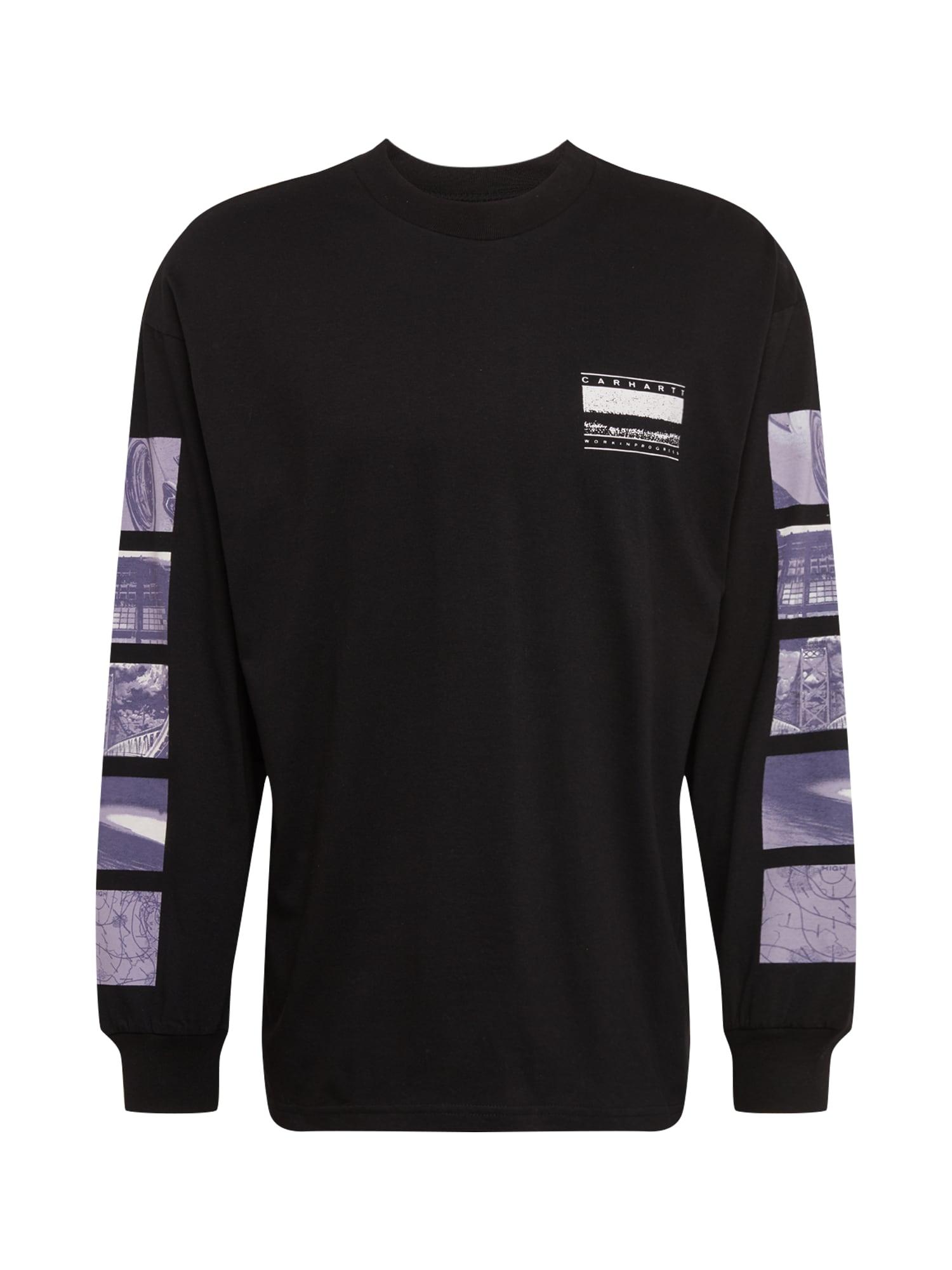 Carhartt WIP Marškinėliai purpurinė / juoda