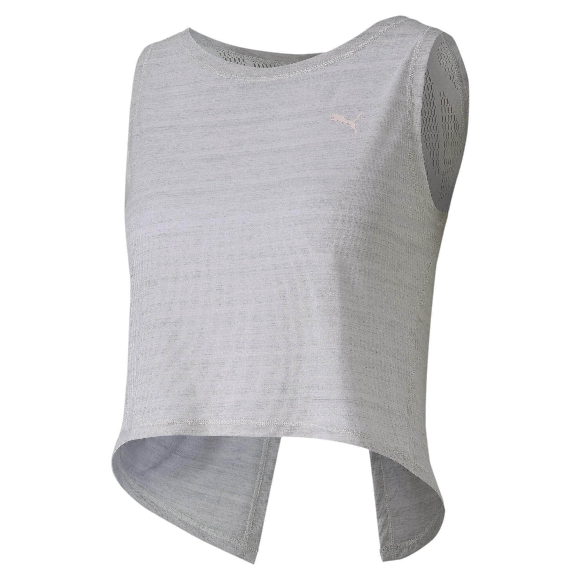 PUMA Sportovní top 'Studio Crop Lace'  bílý melír