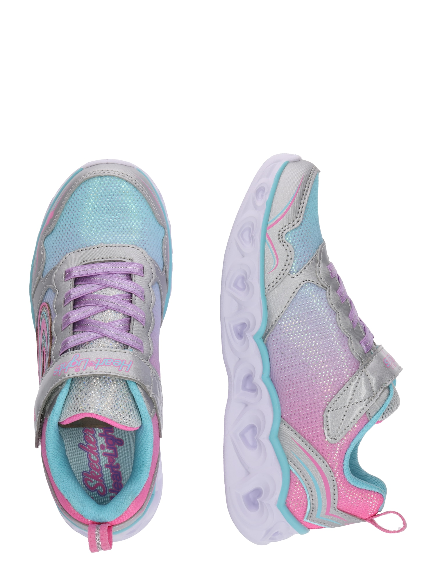 SKECHERS Sneaker 'HEART LIGHTS - LOVE SPARK'  silvergrå / blandade färger