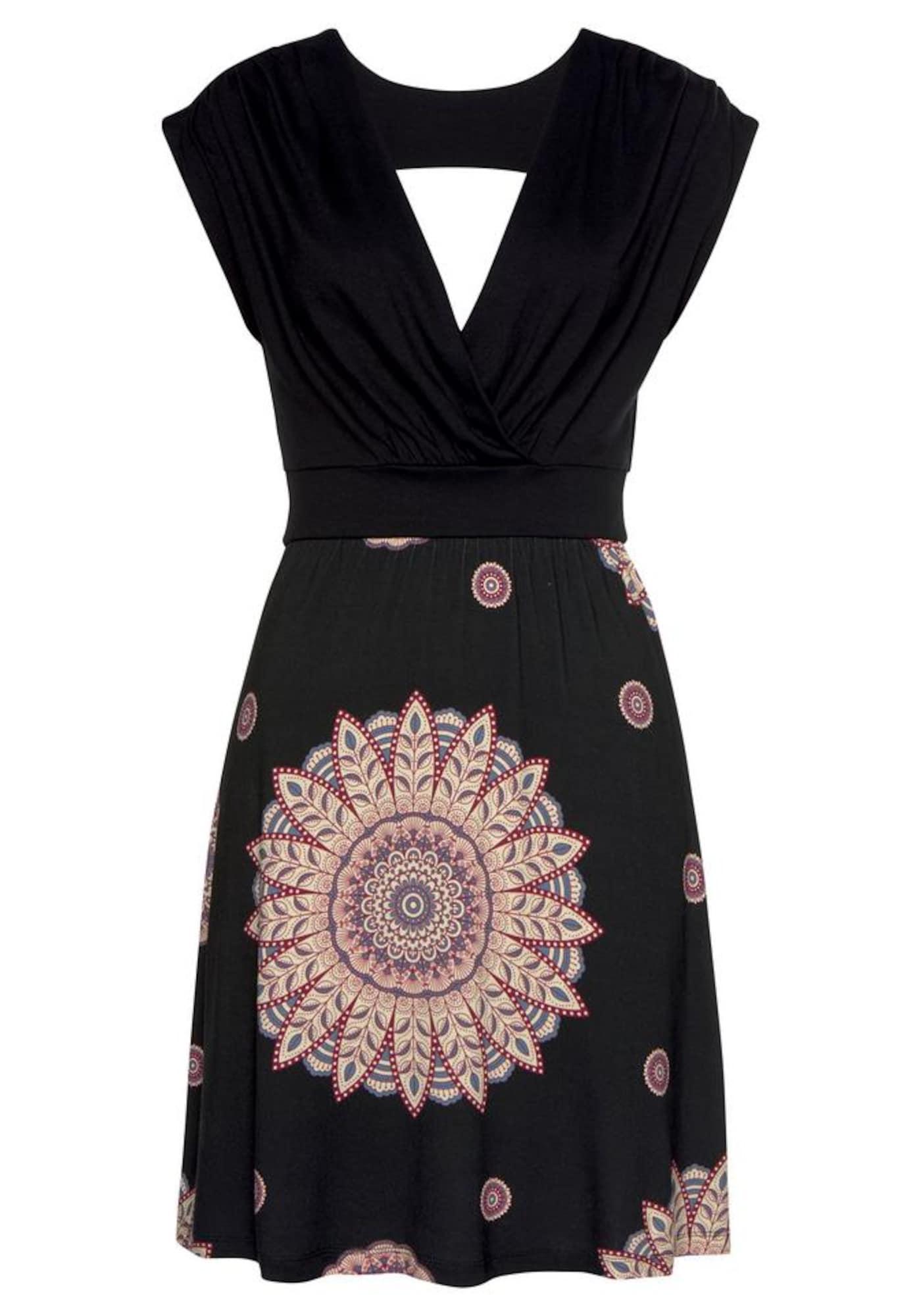 BEACH TIME Vasarinė suknelė juoda / tamsiai raudona