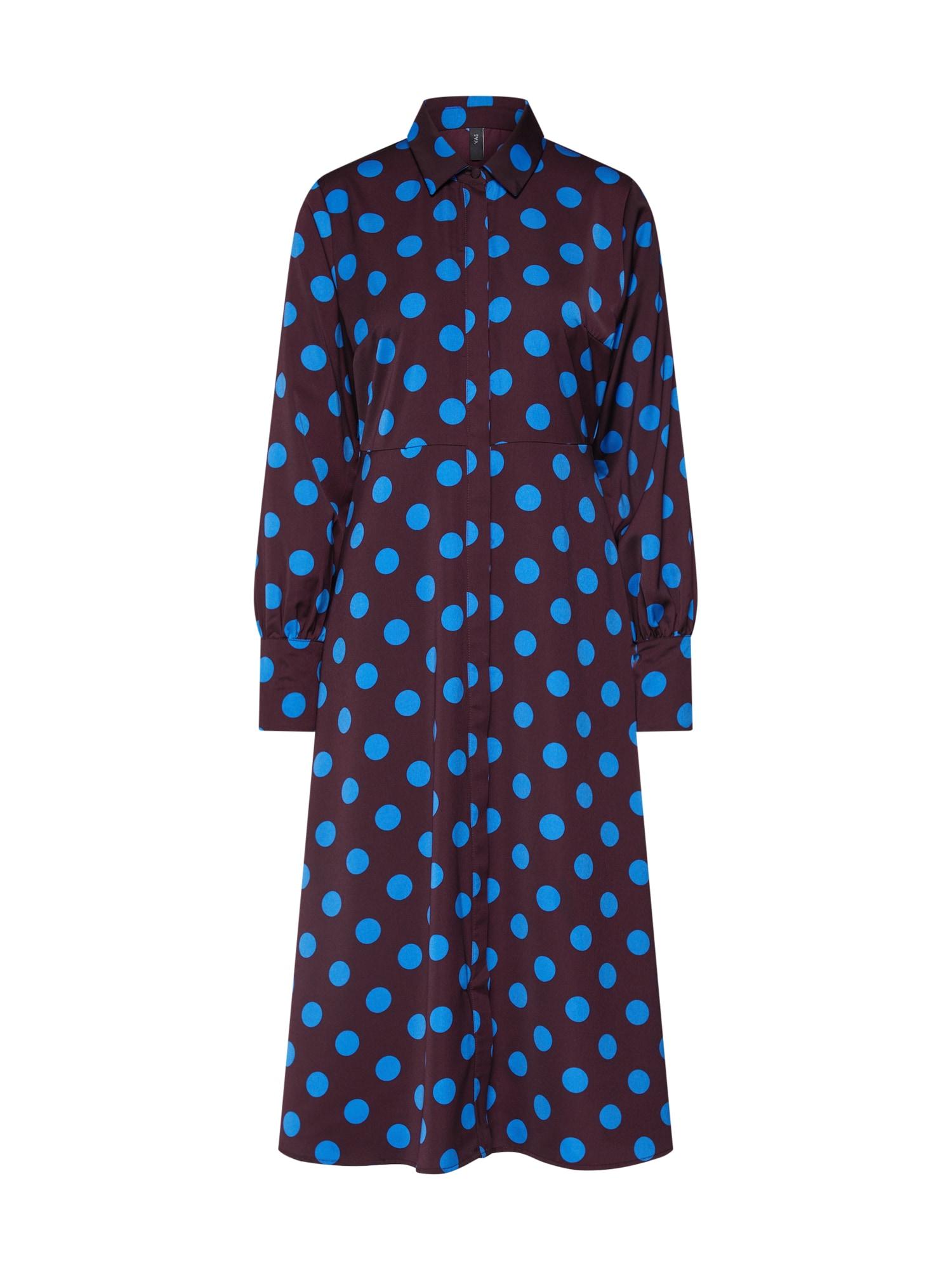 Y.A.S Košeľové šaty 'GWEN'  modré / vínovo červená