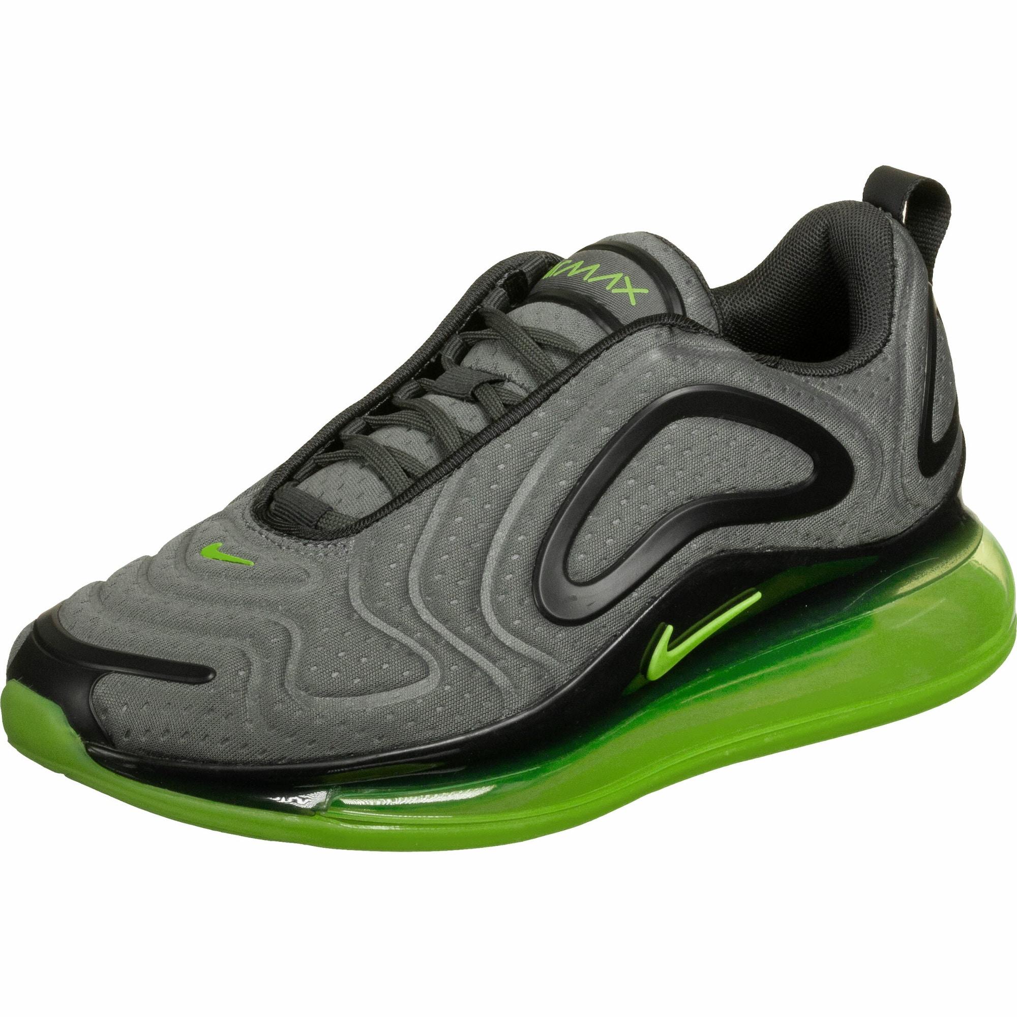 Nike Sportswear Nízke tenisky 'Air Max 720'  sivá melírovaná / čierna / limetová