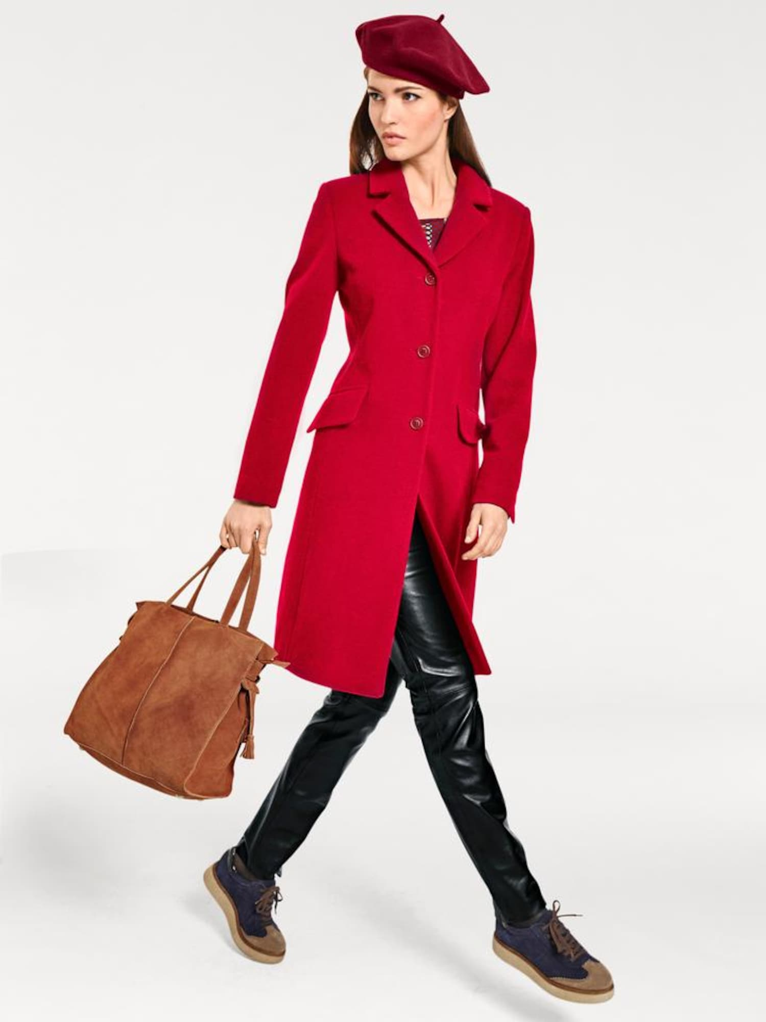 heine Demisezoninis paltas spanguolių spalva