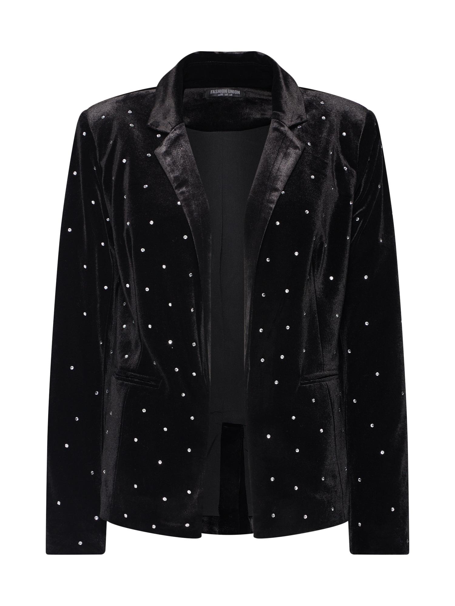 Fashion Union Blazer švarkas 'LUNINE' juoda