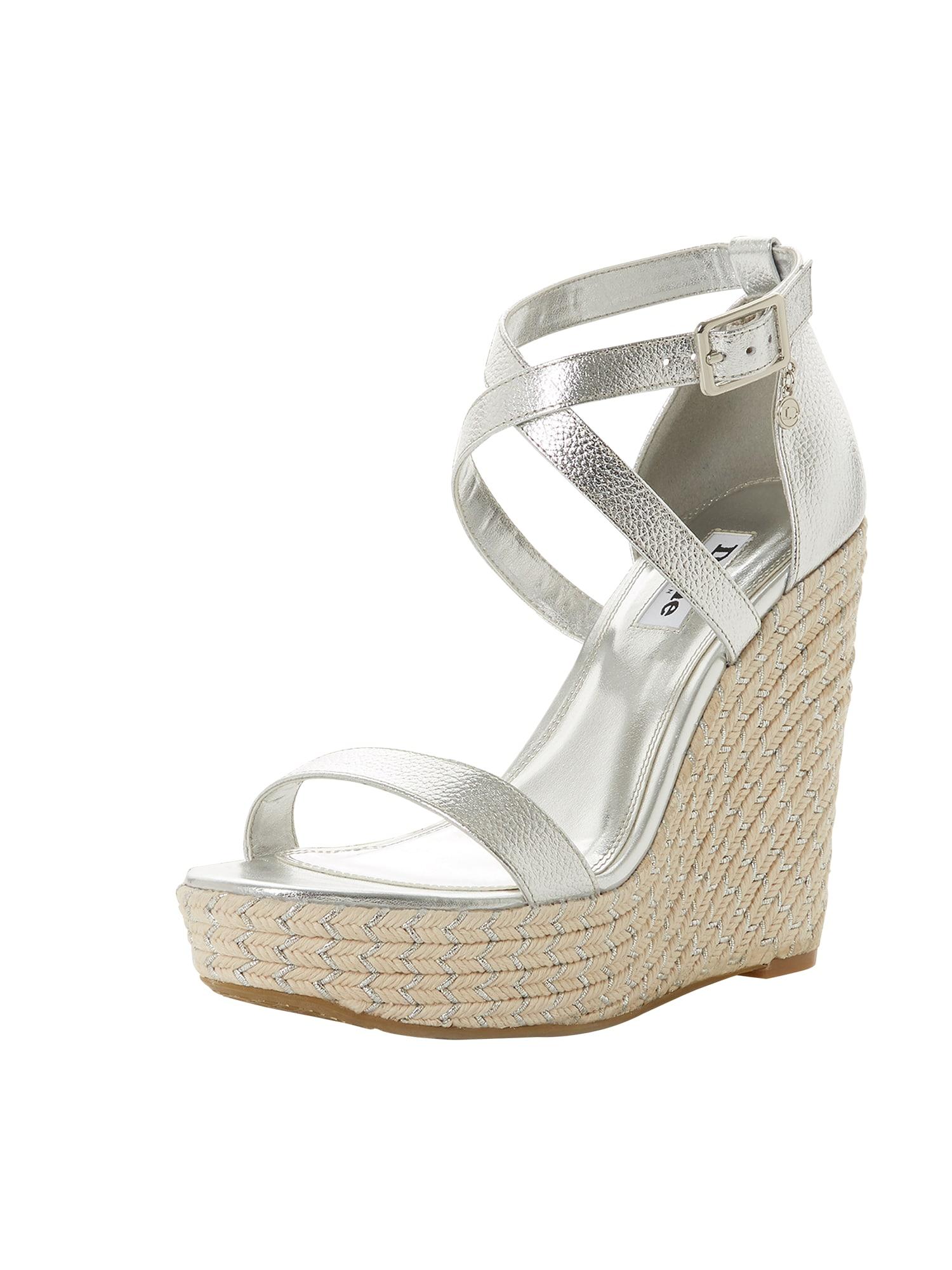 Páskové sandály KRYSIA stříbrná Dune LONDON