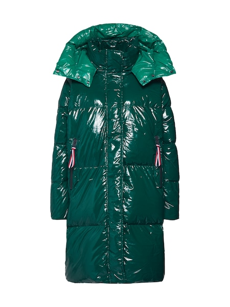 Jacken - Mantel 'PALMER GLOSSY DOWN COAT' › Tommy Hilfiger › dunkelgrün  - Onlineshop ABOUT YOU