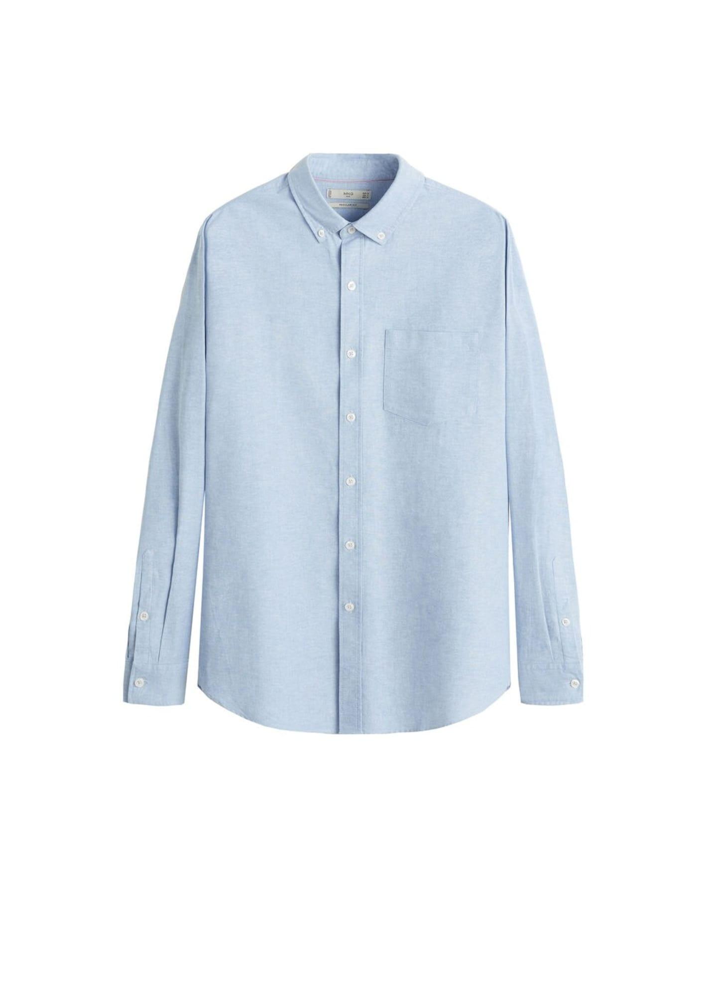 MANGO MAN Společenská košile 'Oxford'  opálová