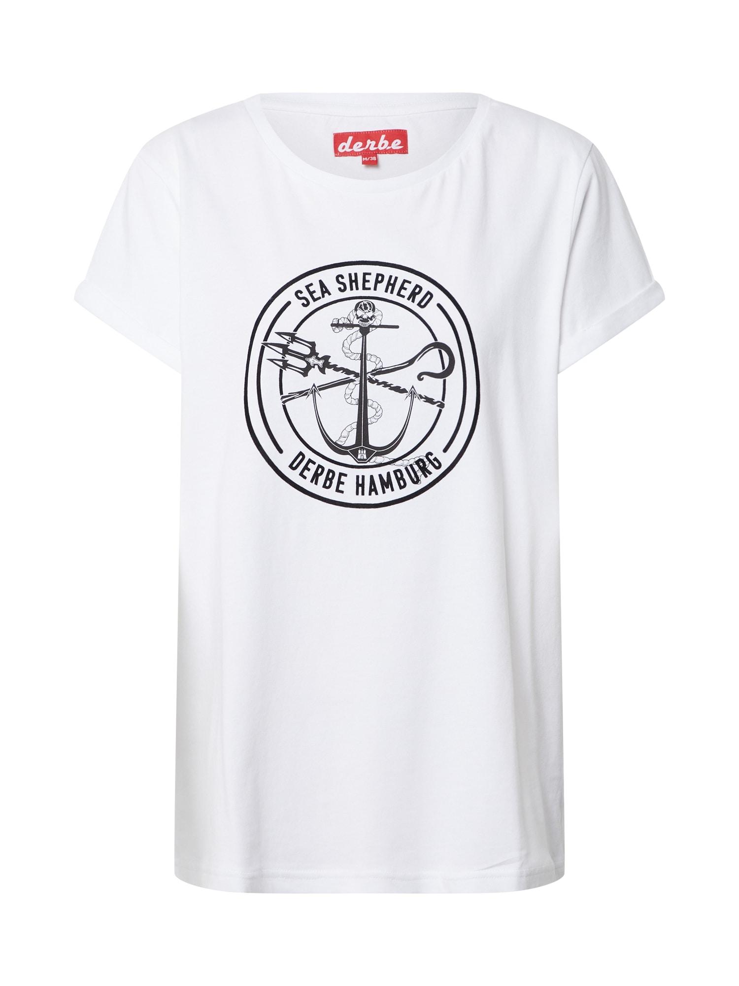 Derbe Marškinėliai juoda / balta
