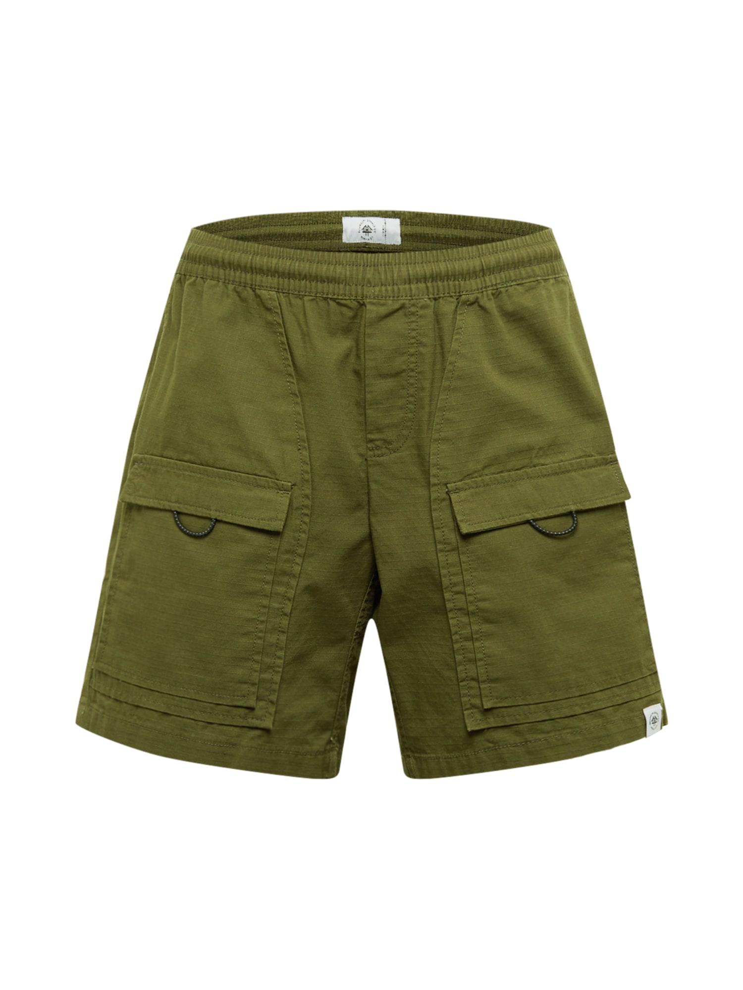 Brooklyn Supply Co. Laisvo stiliaus kelnės 'Utility' rusvai žalia