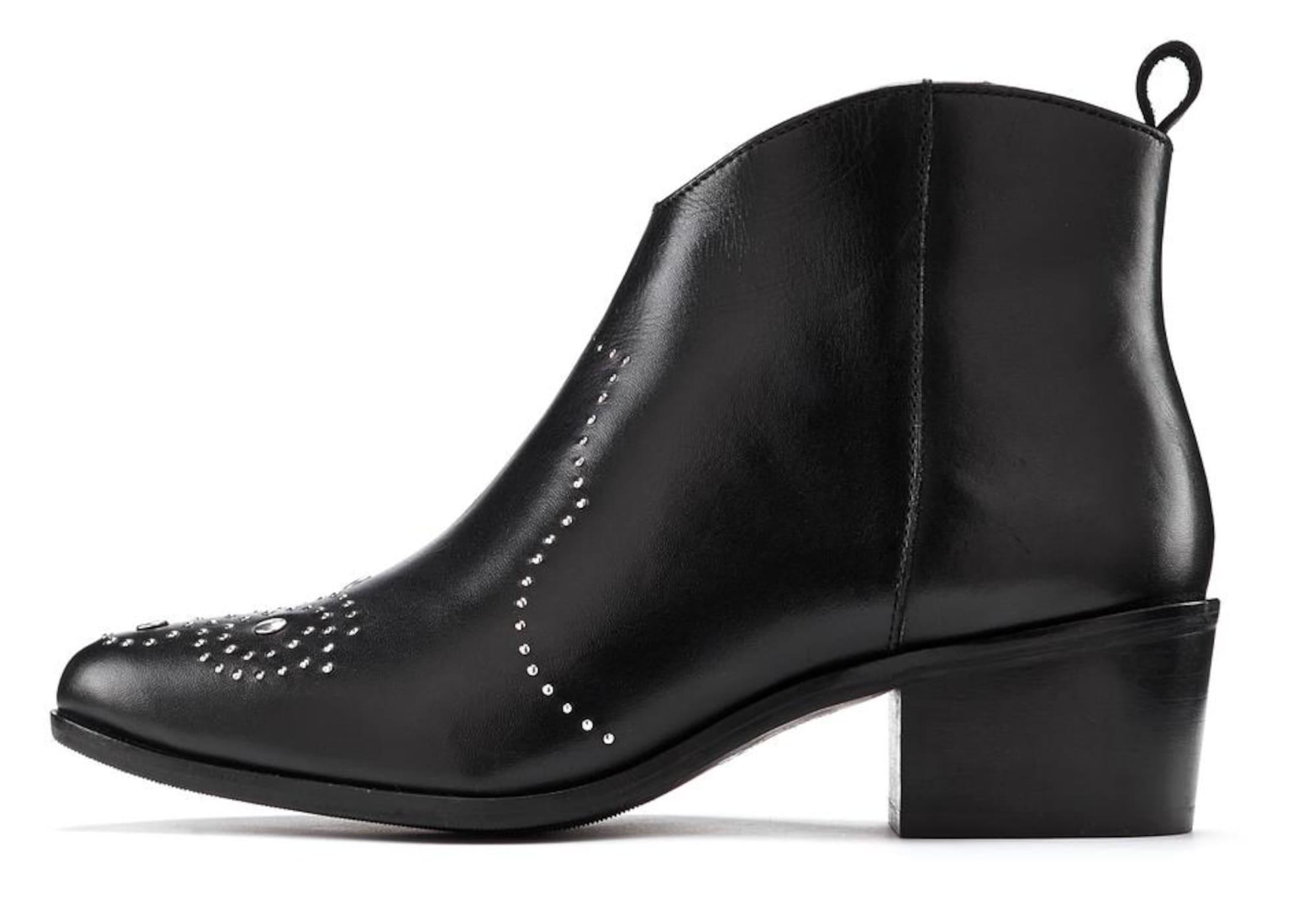 LASCANA Kulkšnis dengiantys batai juoda / sidabrinė