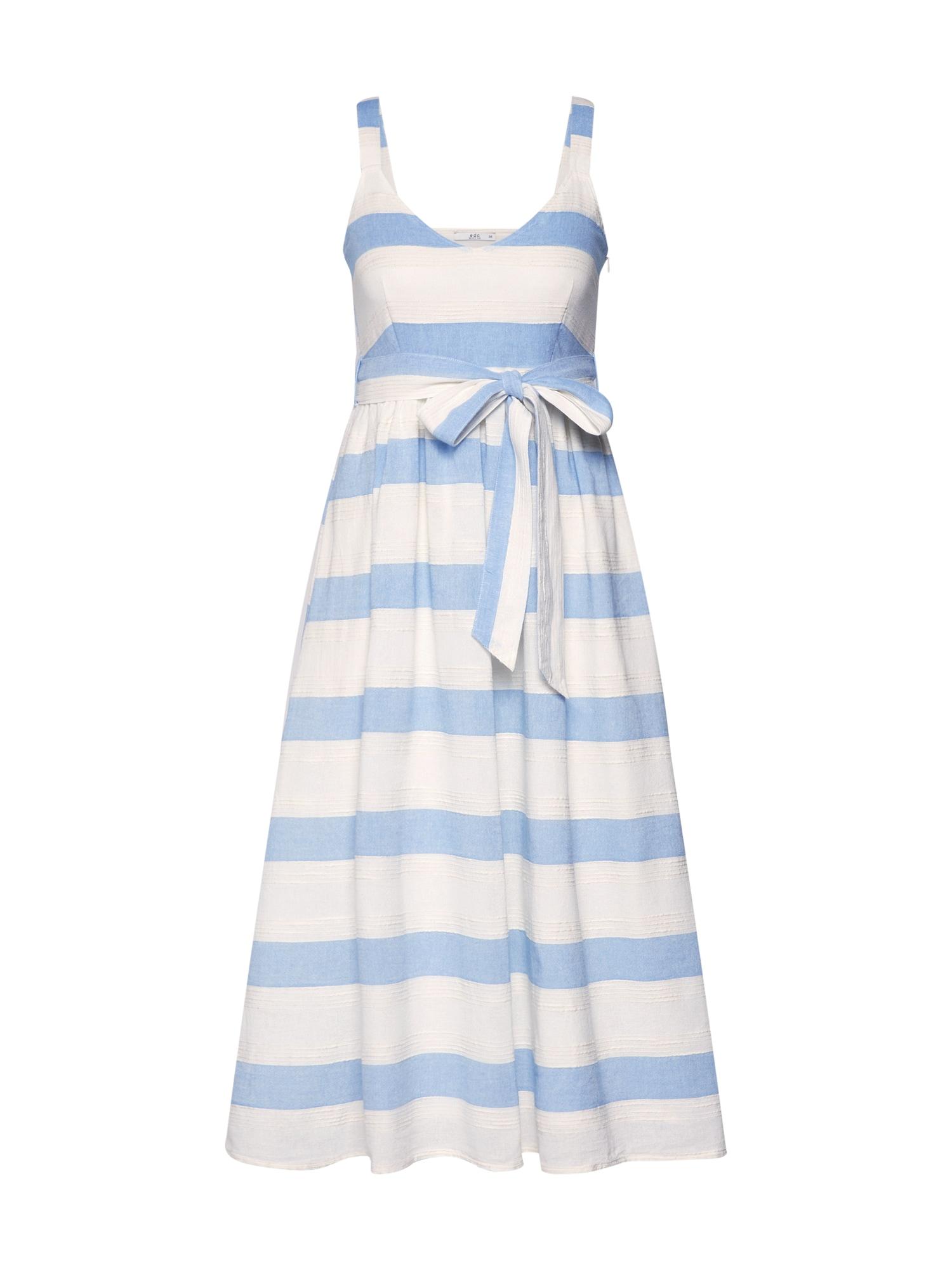 Letní šaty hellblau offwhite EDC BY ESPRIT