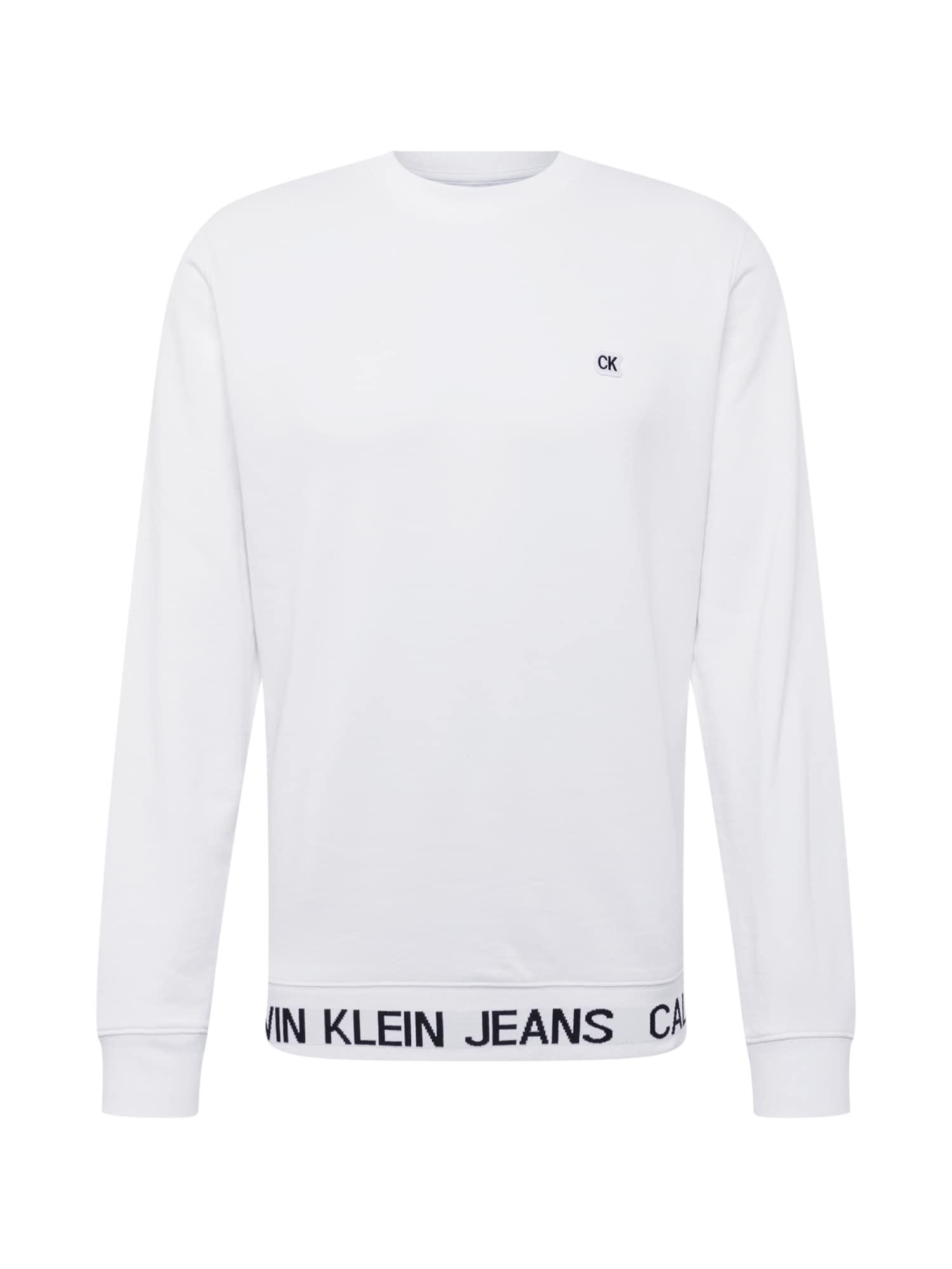 Mikina černá bílá Calvin Klein Jeans