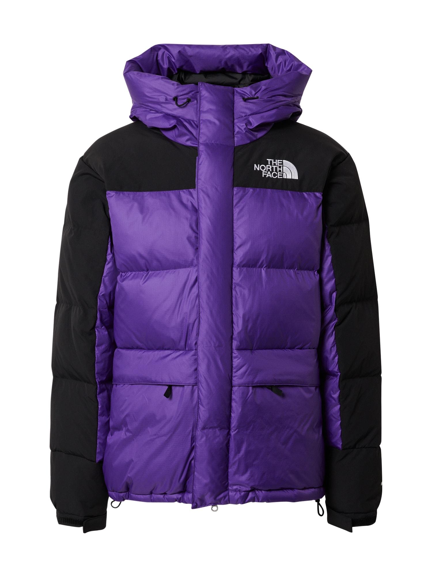 THE NORTH FACE Zimní bunda  černá / tmavě fialová