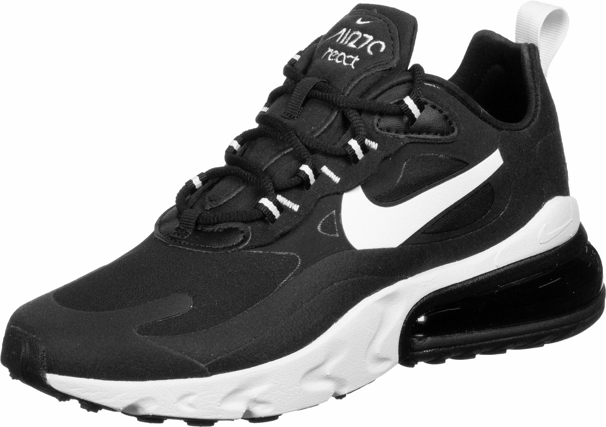 Nike Sportswear Sportbačiai be auliuko 'Air Max 270 React' balta / juoda