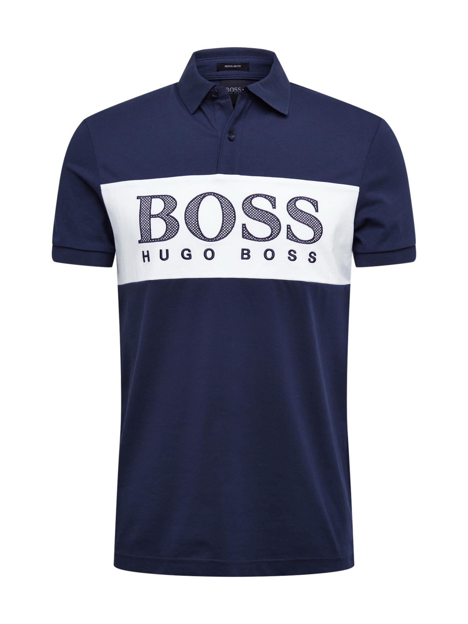BOSS ATHLEISURE Marškinėliai 'Pavel 1' tamsiai mėlyna