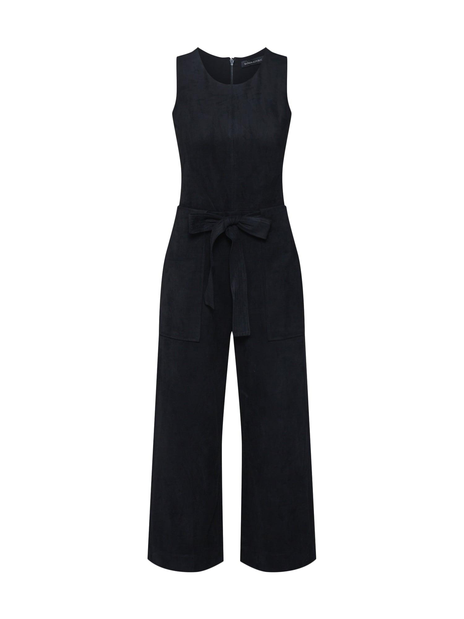 Banana Republic Kombinezono tipo kostiumas 'SL VEGAN SUEDE WIDE LEG JUMPSUIT' juoda
