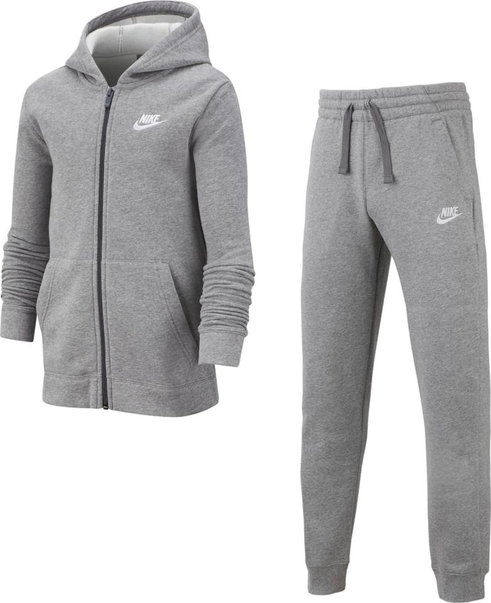 Nike Sportswear Laisvalaikio kostiumas 'TRK SUIT CORE BF' margai pilka
