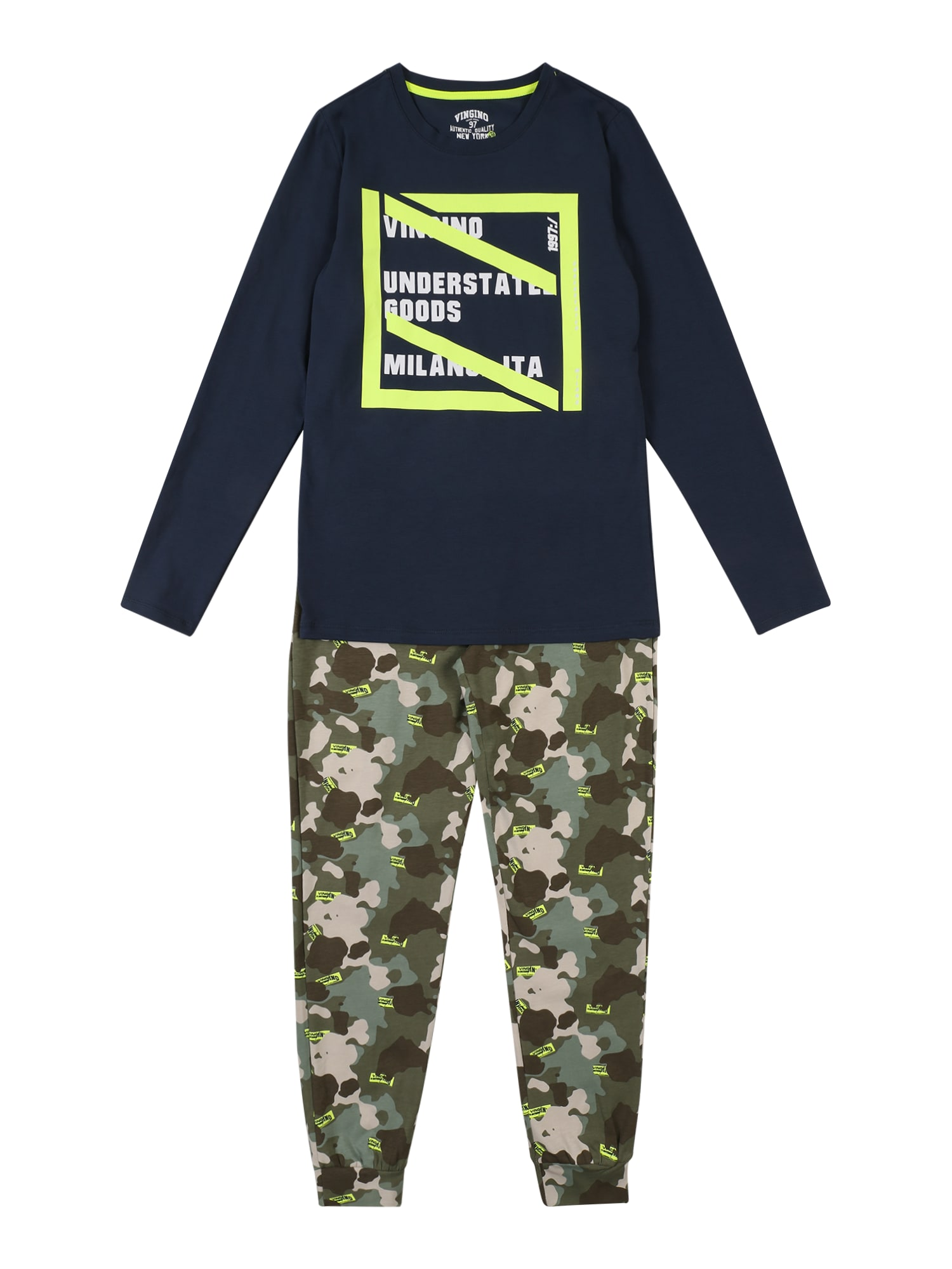 VINGINO Miego kostiumas 'Wester' mėlyna / žalia