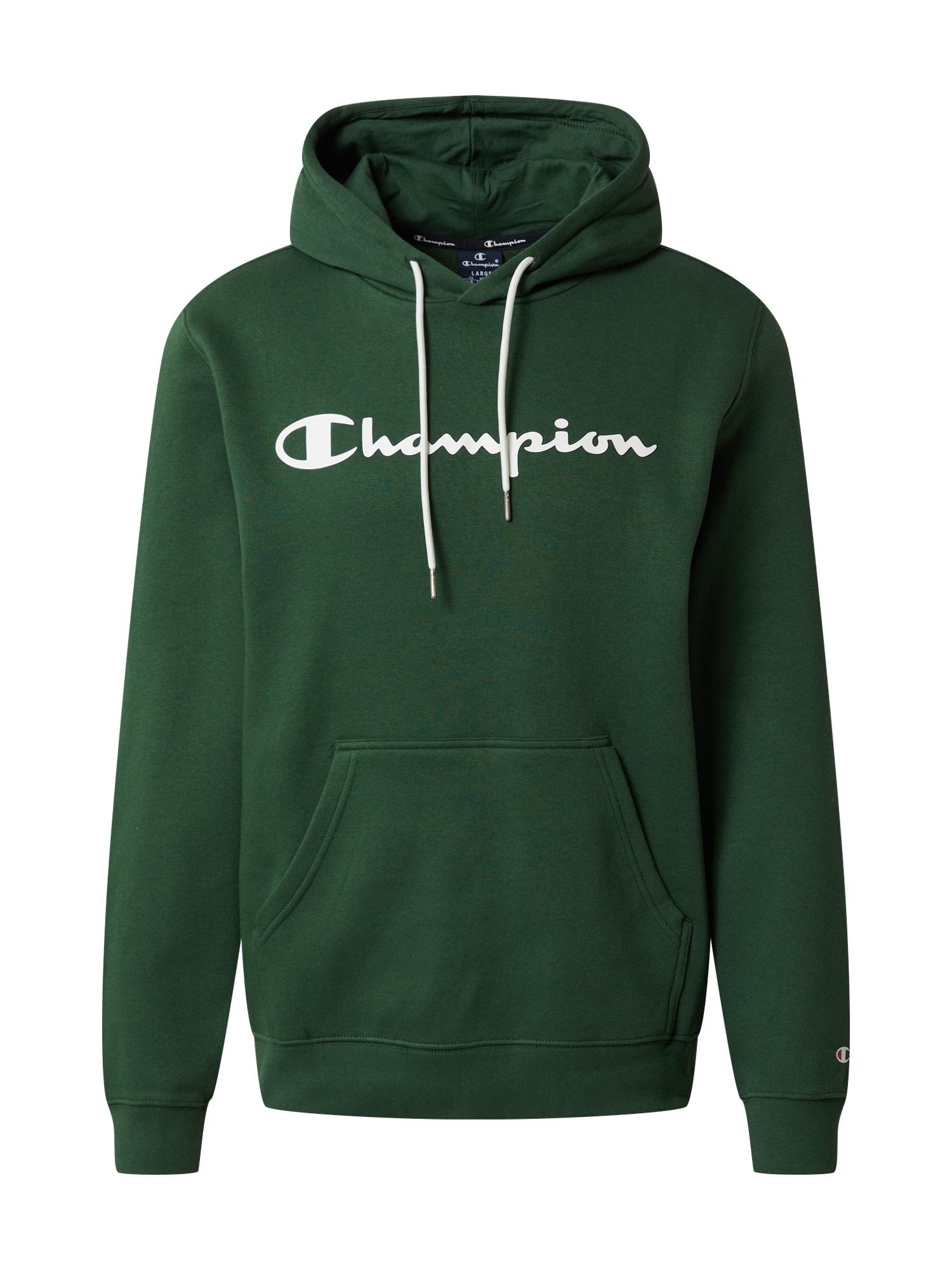 Champion Authentic Athletic Apparel Megztinis be užsegimo balta / žolės žalia
