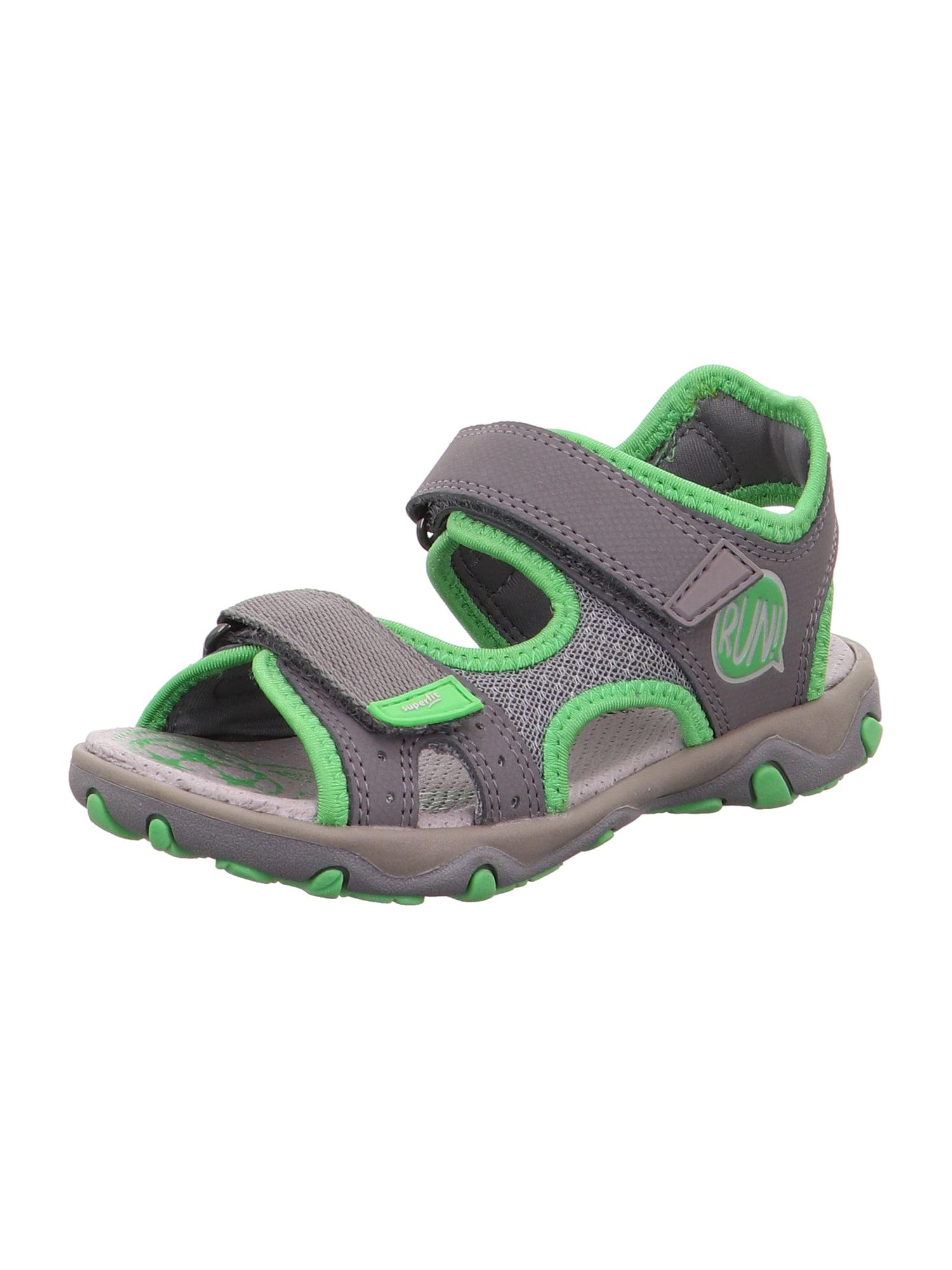 SUPERFIT Atviri batai 'MIKE 3.0' pilka / žolės žalia