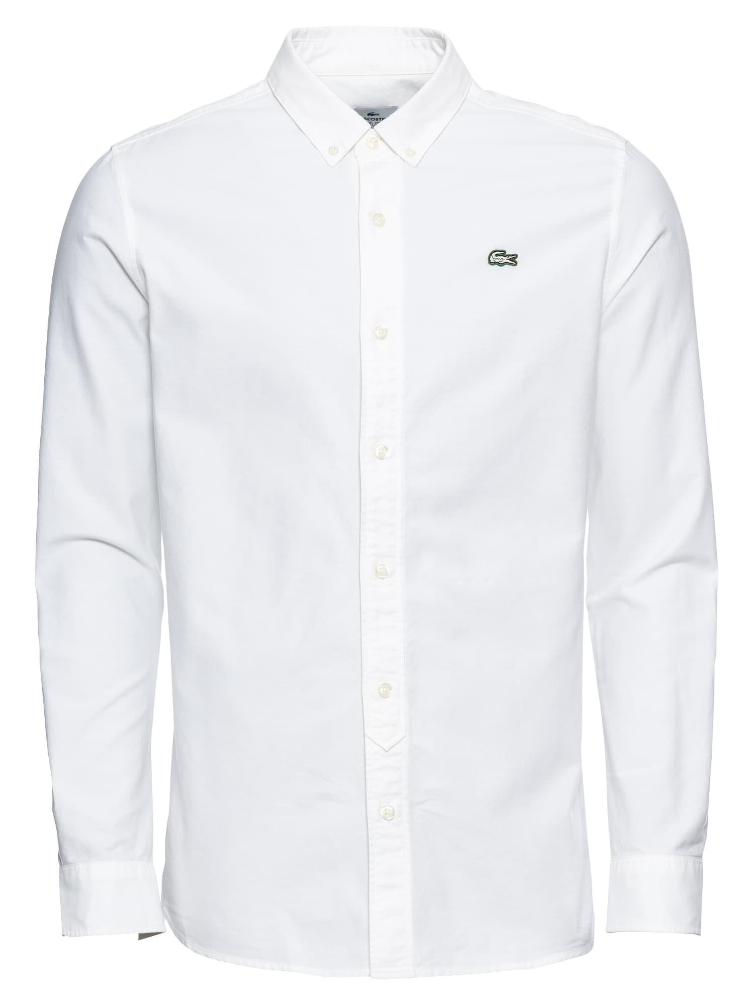 Košile CHEMISE MANCHES LONGUES bílá Lacoste LIVE