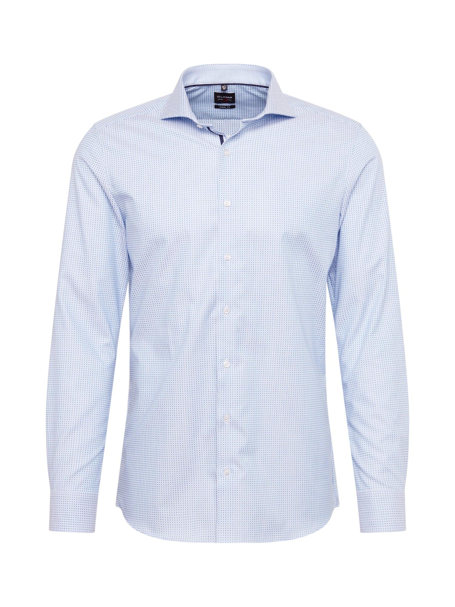 Společenská košile modrá OLYMP