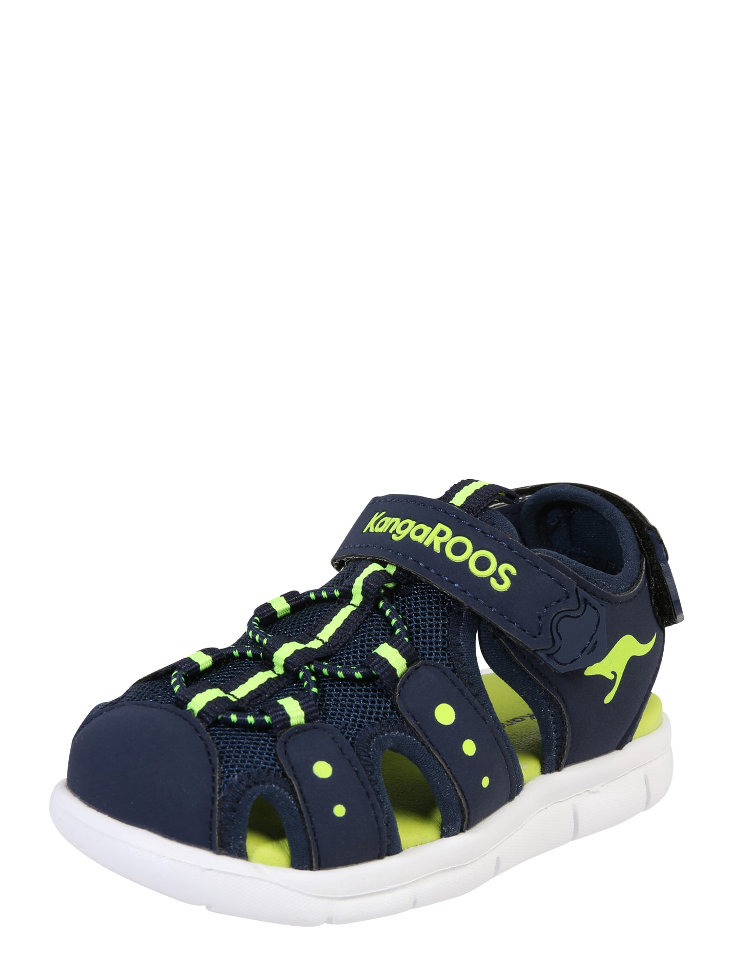 myToys-COLLECTION Sandalai tamsiai mėlyna / neoninė žalia