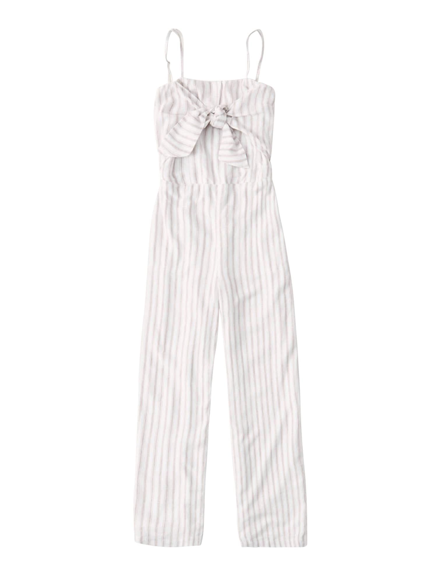 Abercrombie & Fitch Vienos dalies kostiumas smėlio / balta