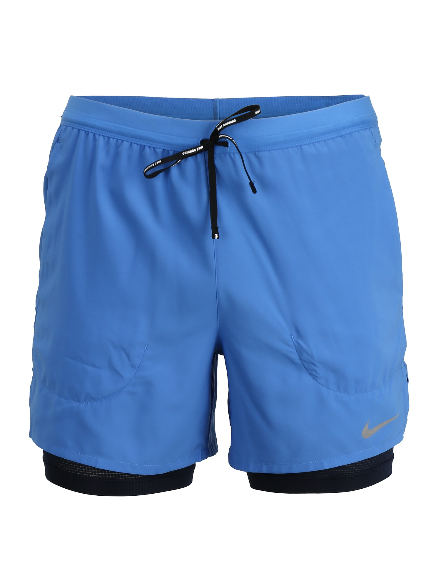 NIKE Sportinės kelnės juoda / mėlyna