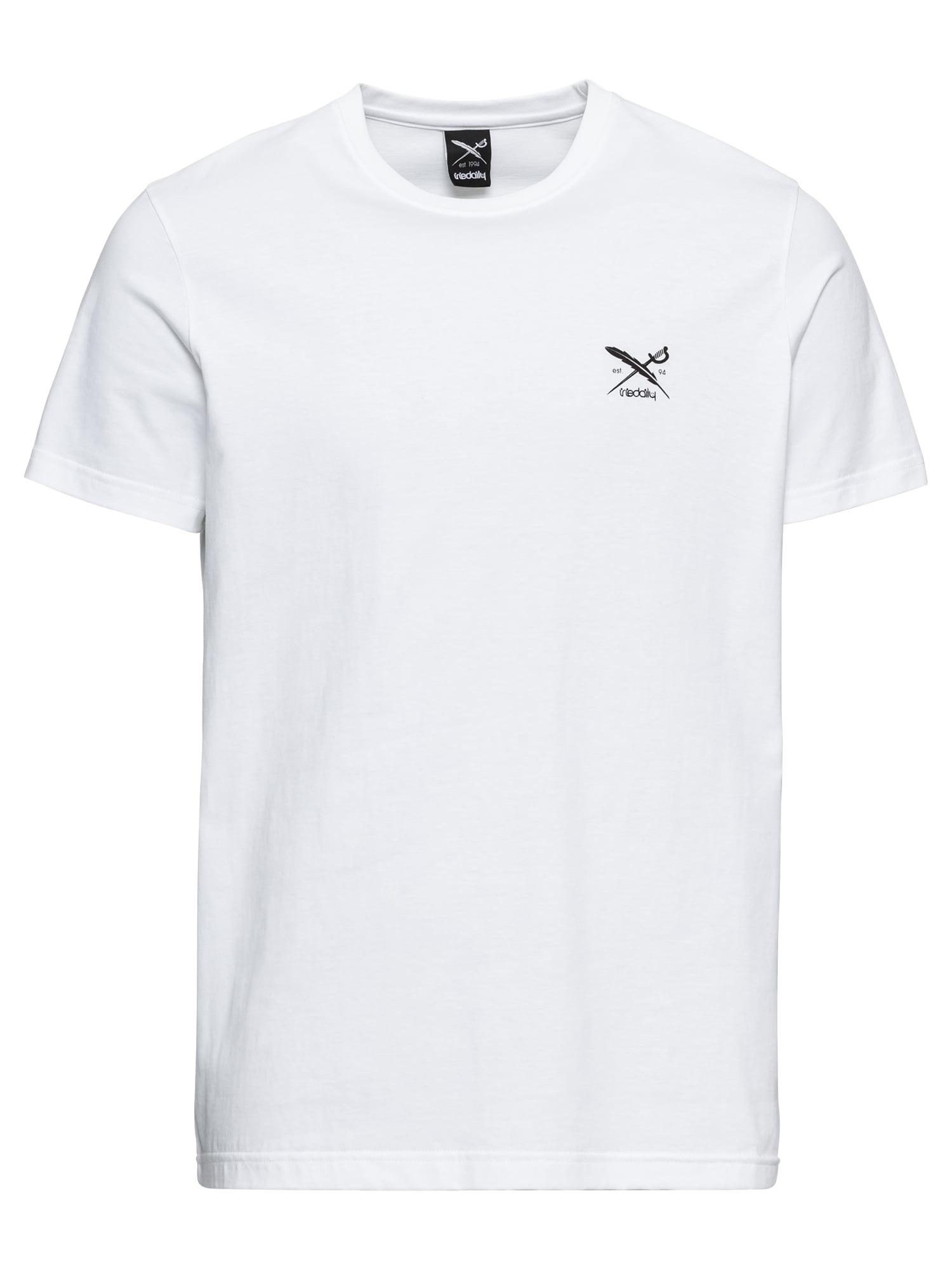 Iriedaily Marškinėliai 'Chestflag' juoda / balta